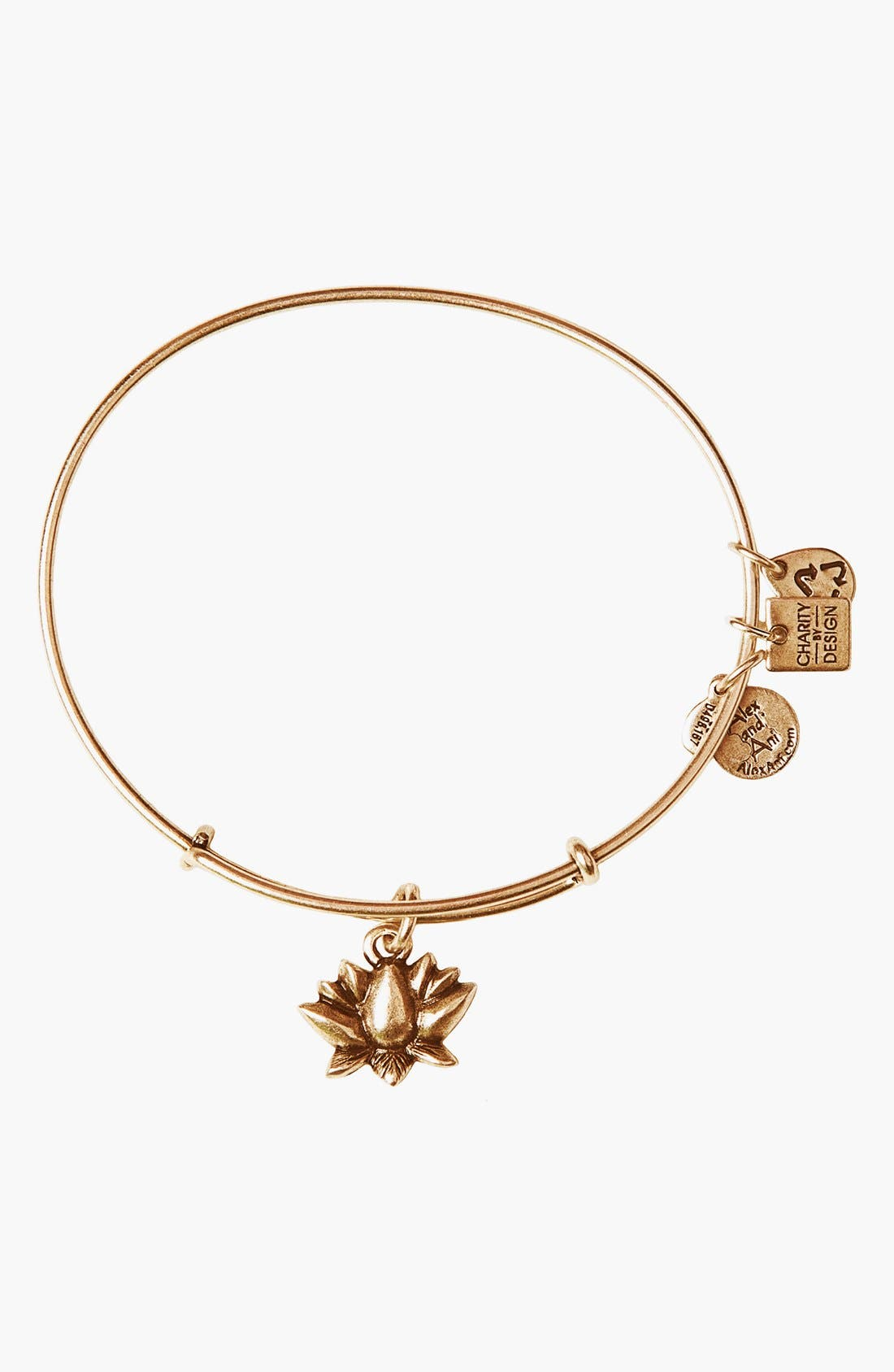 Main Image - Alex and Ani 'Lotus Blossom' Expandable Wire Bangle