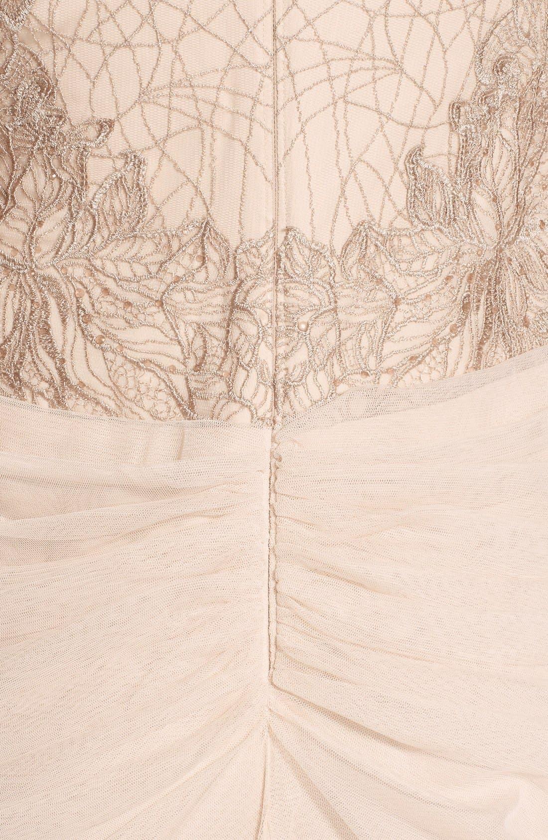 Alternate Image 3  - Tadashi Shoji Embroidered Tulle Gown