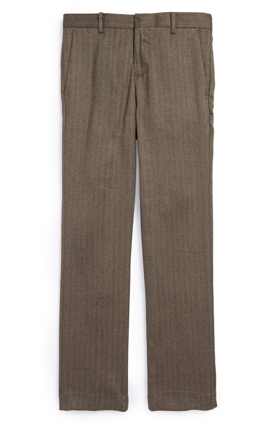 Main Image - Nordstrom 'Phillip' Herringbone Trousers (Toddler Boys, Little Boys & Big Boys)