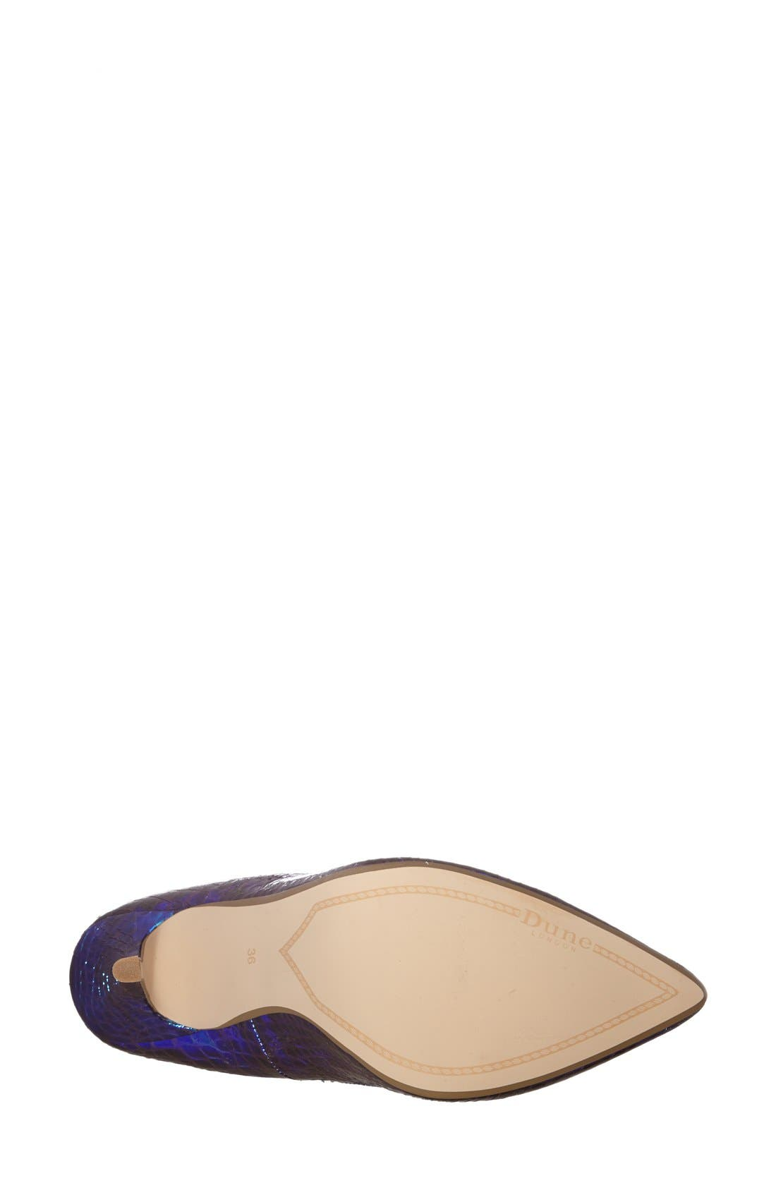 Alternate Image 4  - Dune London 'Burst' Pointy Toe Pump (Women)