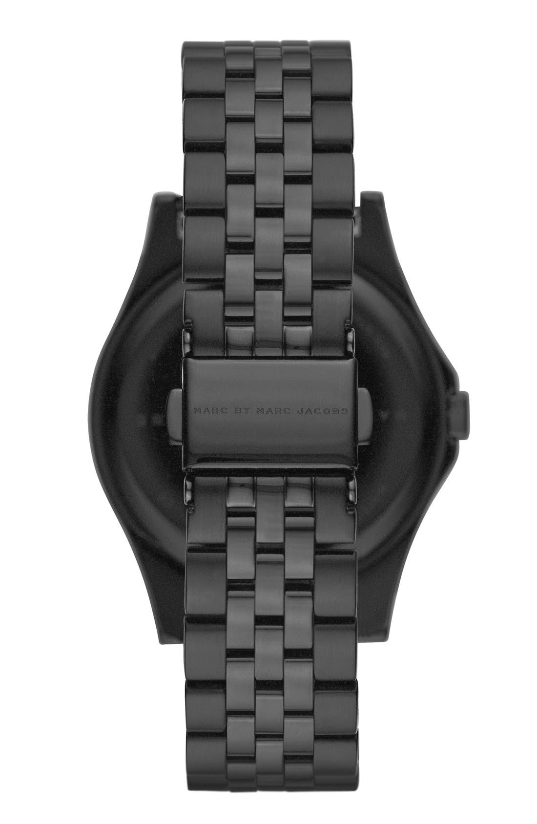 'The Slim' Bracelet Watch, 36mm,                             Alternate thumbnail 2, color,                             Black