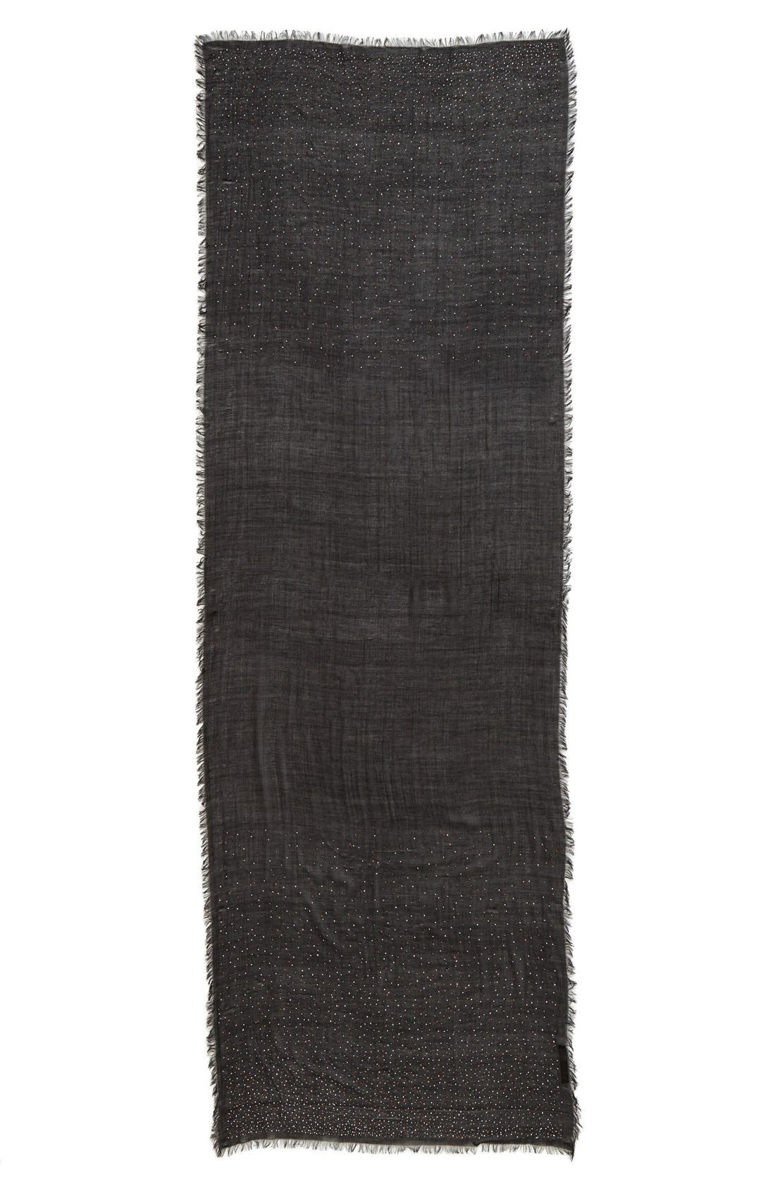 neration 'Diamante' Studded Wrap,                             Alternate thumbnail 2, color,                             Black