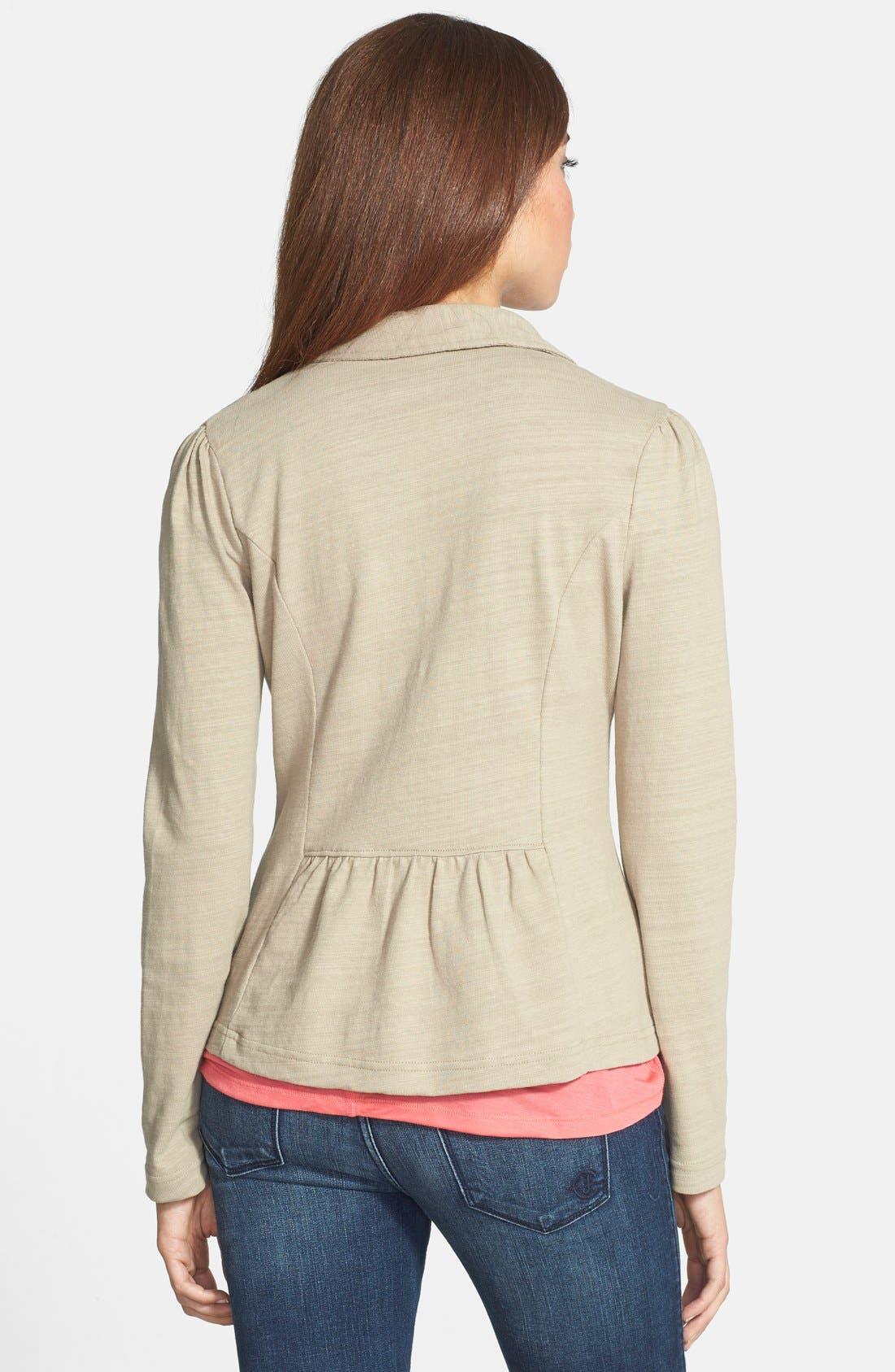 Alternate Image 2  - Caslon® Knit One-Button Blazer (Petite)