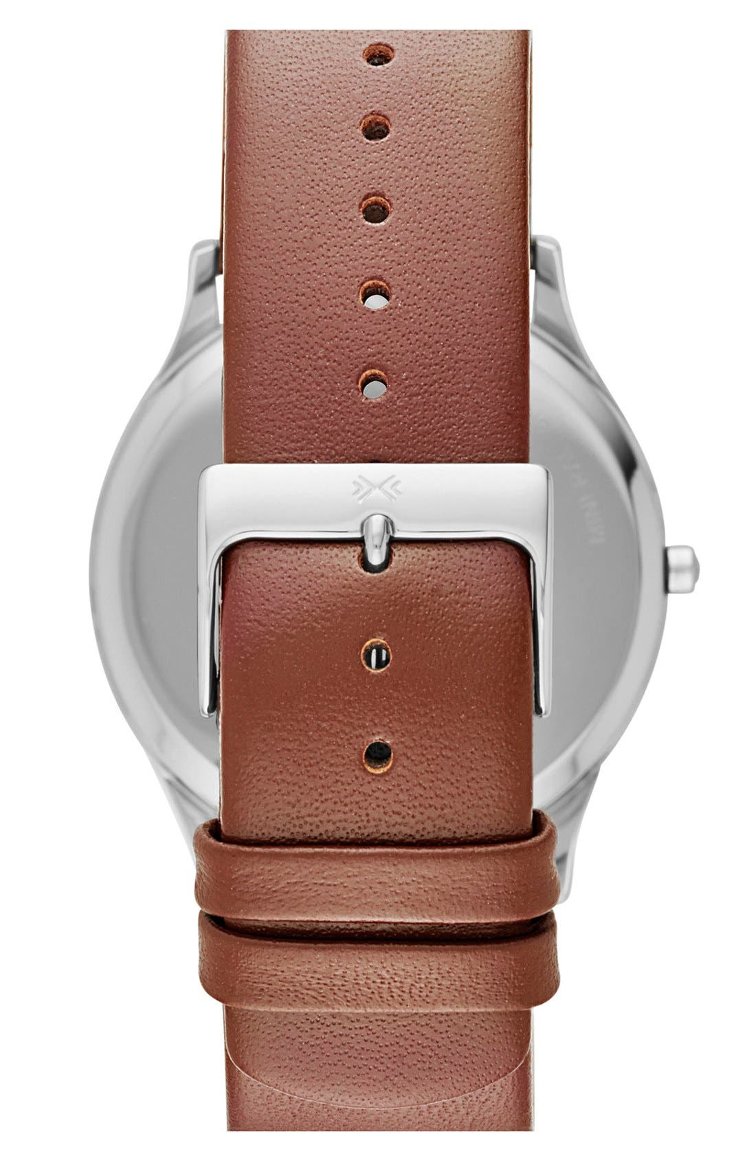 Alternate Image 2  - Skagen 'Jorn' Leather Strap Watch, 41mm