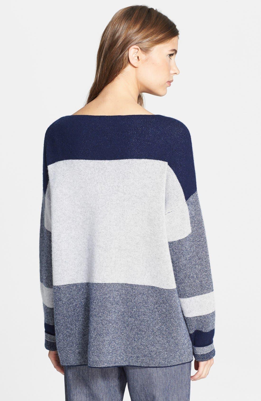 Alternate Image 2  - Vince Intarsia Colorblock Sweater