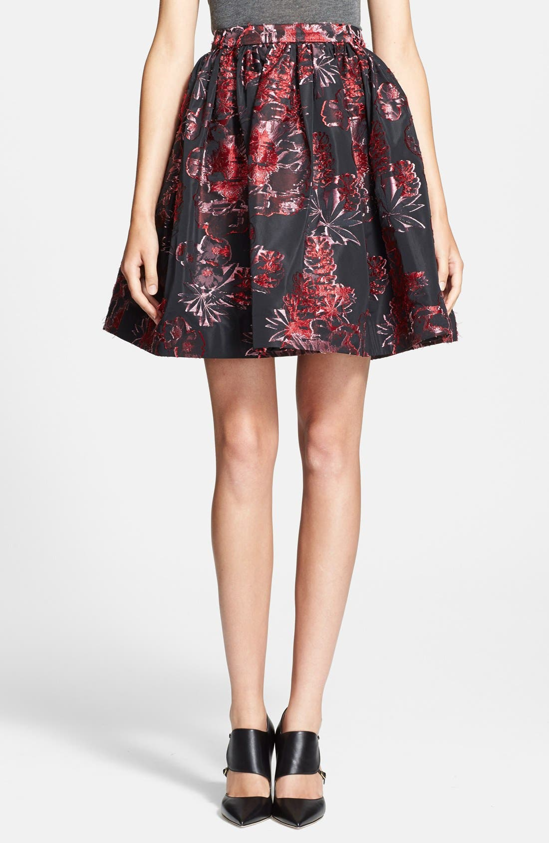 Main Image - Alice + Olivia 'Pia' Floral Pattern Pouf Skirt