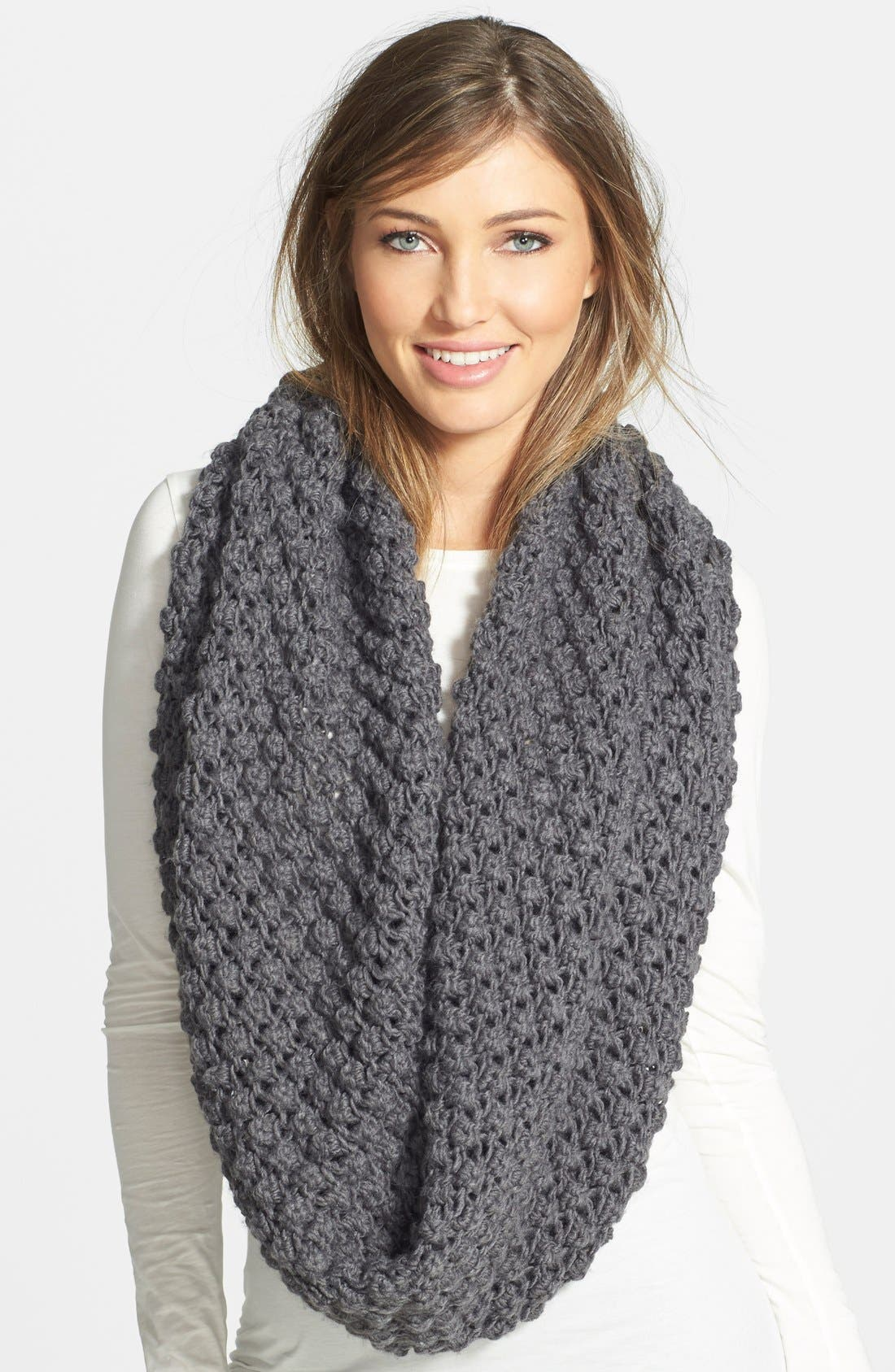 Alternate Image 1 Selected - Lole Popcorn Knit Maxi Infinity Scarf