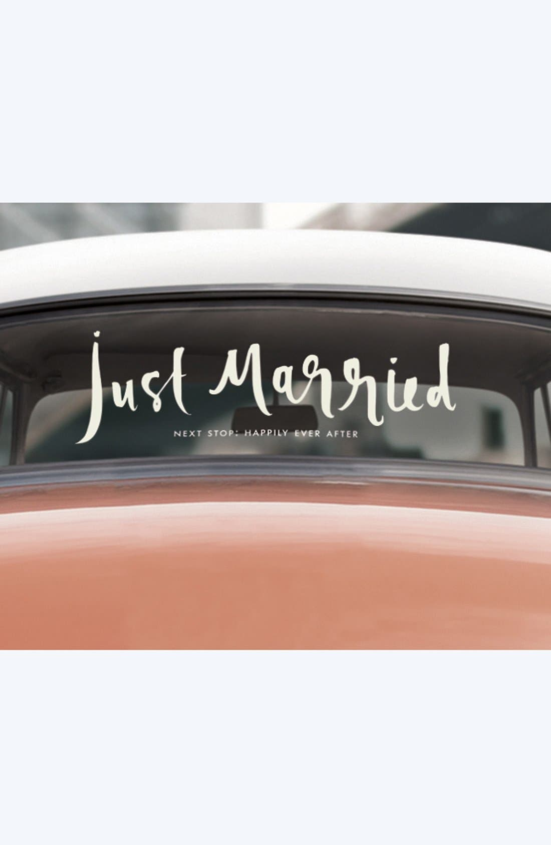 Alternate Image 1 Selected - kate spade new york 'just married' decal