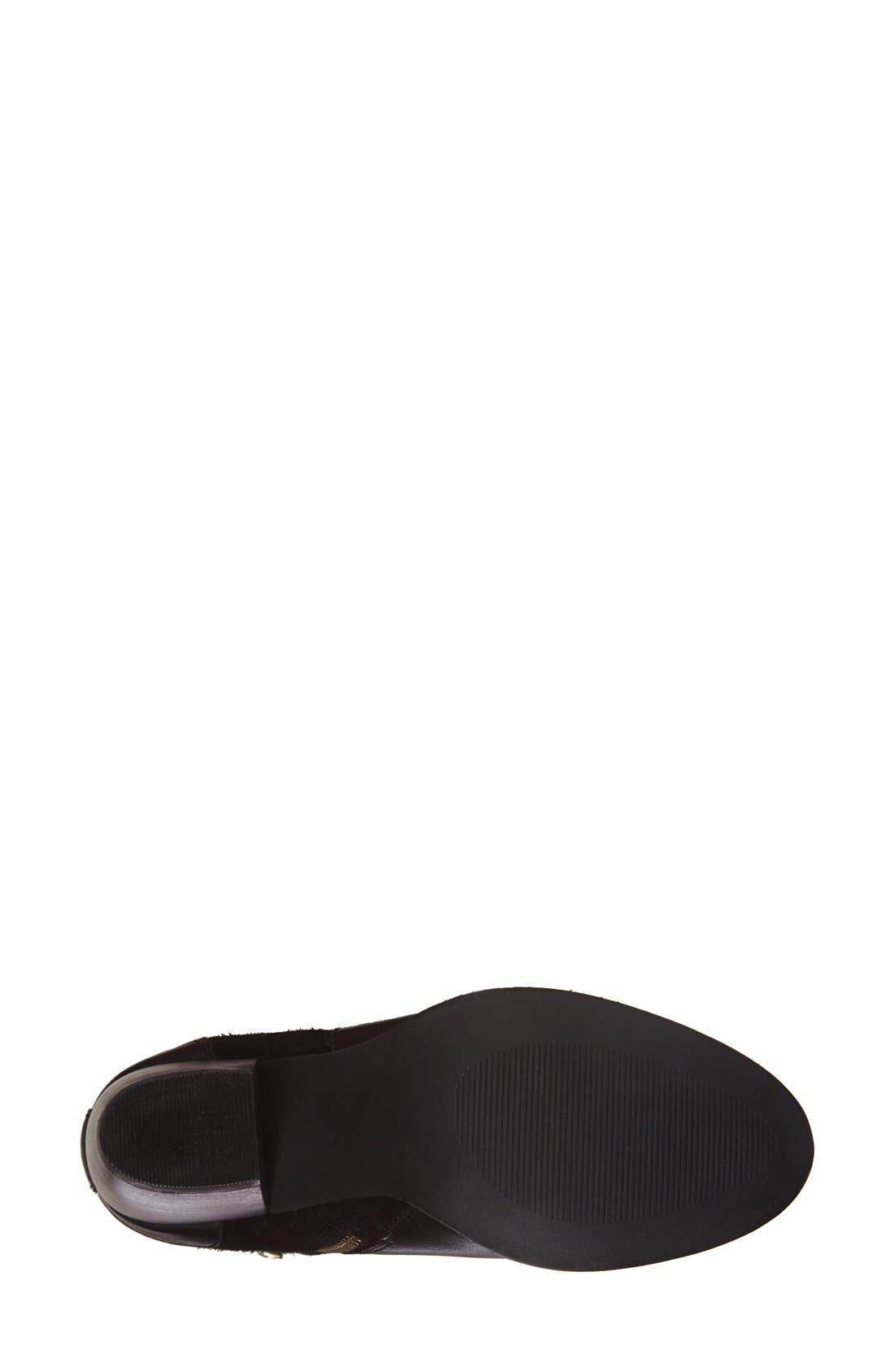 'Parmar' Chunky Heel Bootie,                             Alternate thumbnail 4, color,                             Black