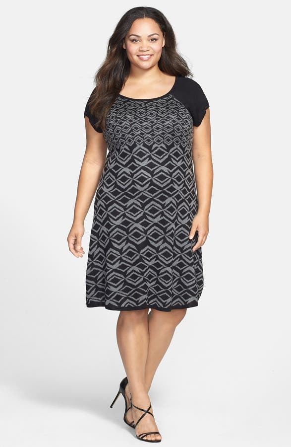 Taylor Dresses Short Sleeve Sweater Dress Plus Size Nordstrom