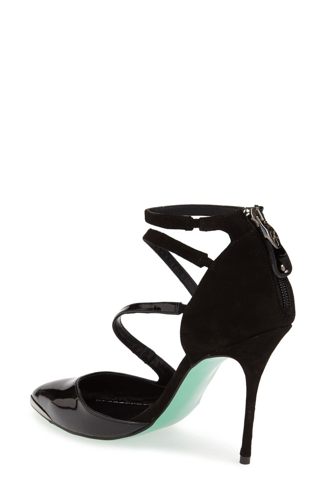 Alternate Image 2  - Topshop by CJG 'Up All Night Point' Suede & Leather Pointy Toe Pump (Women)