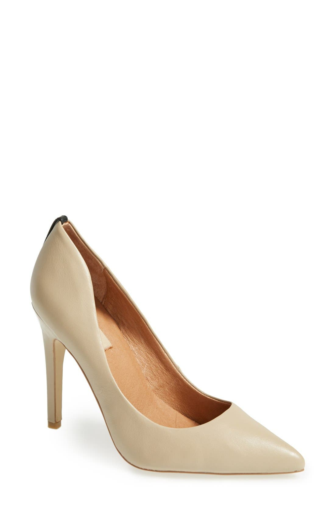 'Jolie' Pointy Toe Pump,                             Main thumbnail 1, color,                             Taupe