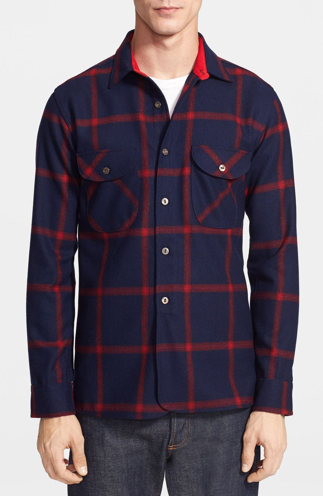 Main Image - Pendleton Thomas Kay Collection 'Oliver' Check Wool Flannel Shirt