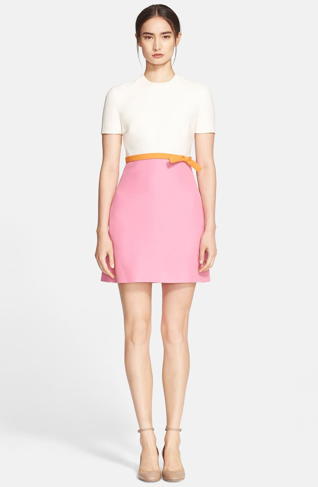 Main Image - Valentino Tricolor Crepe Dress