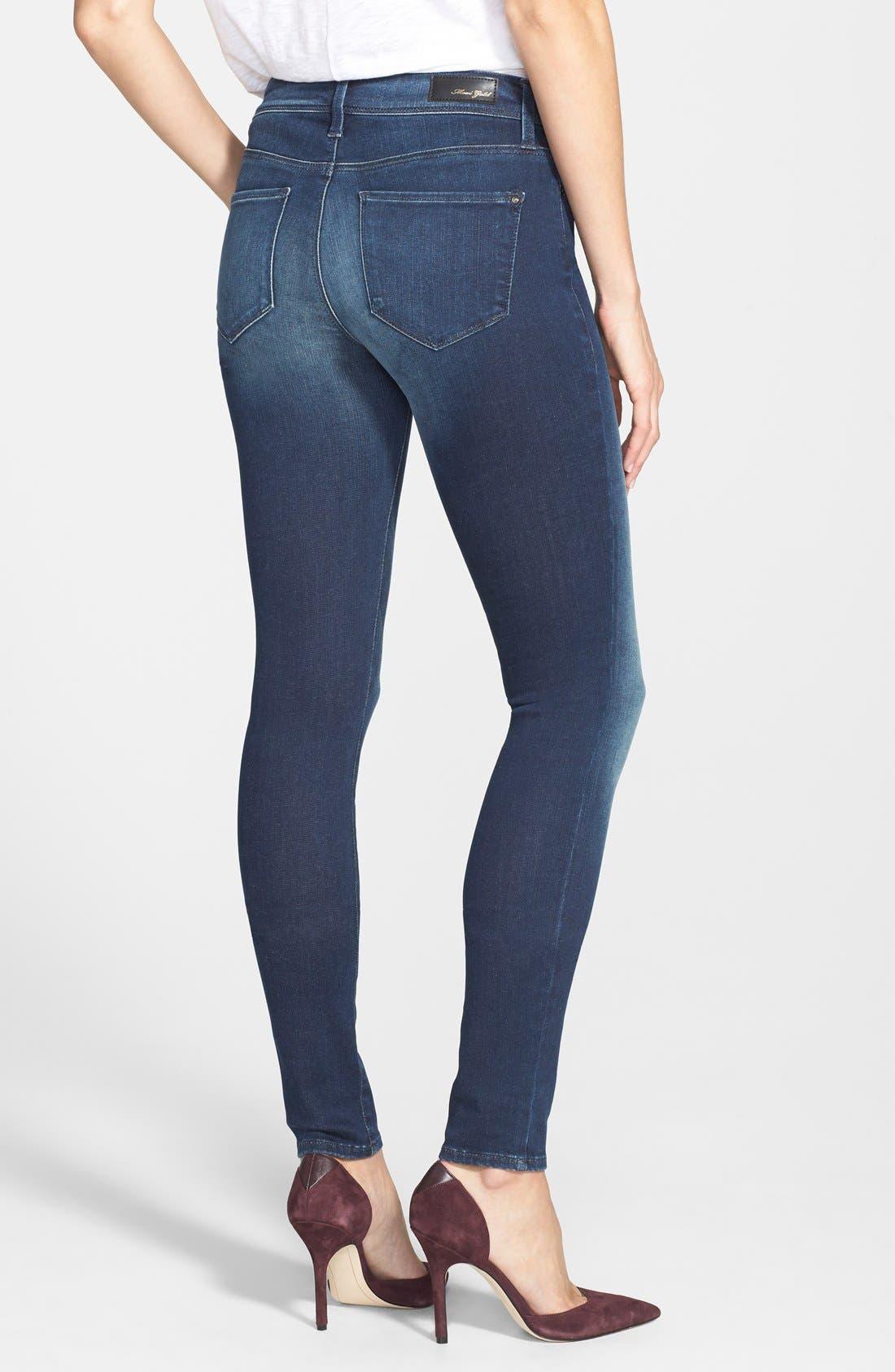 Alternate Image 2  - Mavi Jeans Gold 'Alexa' Stretch Skinny Jeans (Deep Reform)