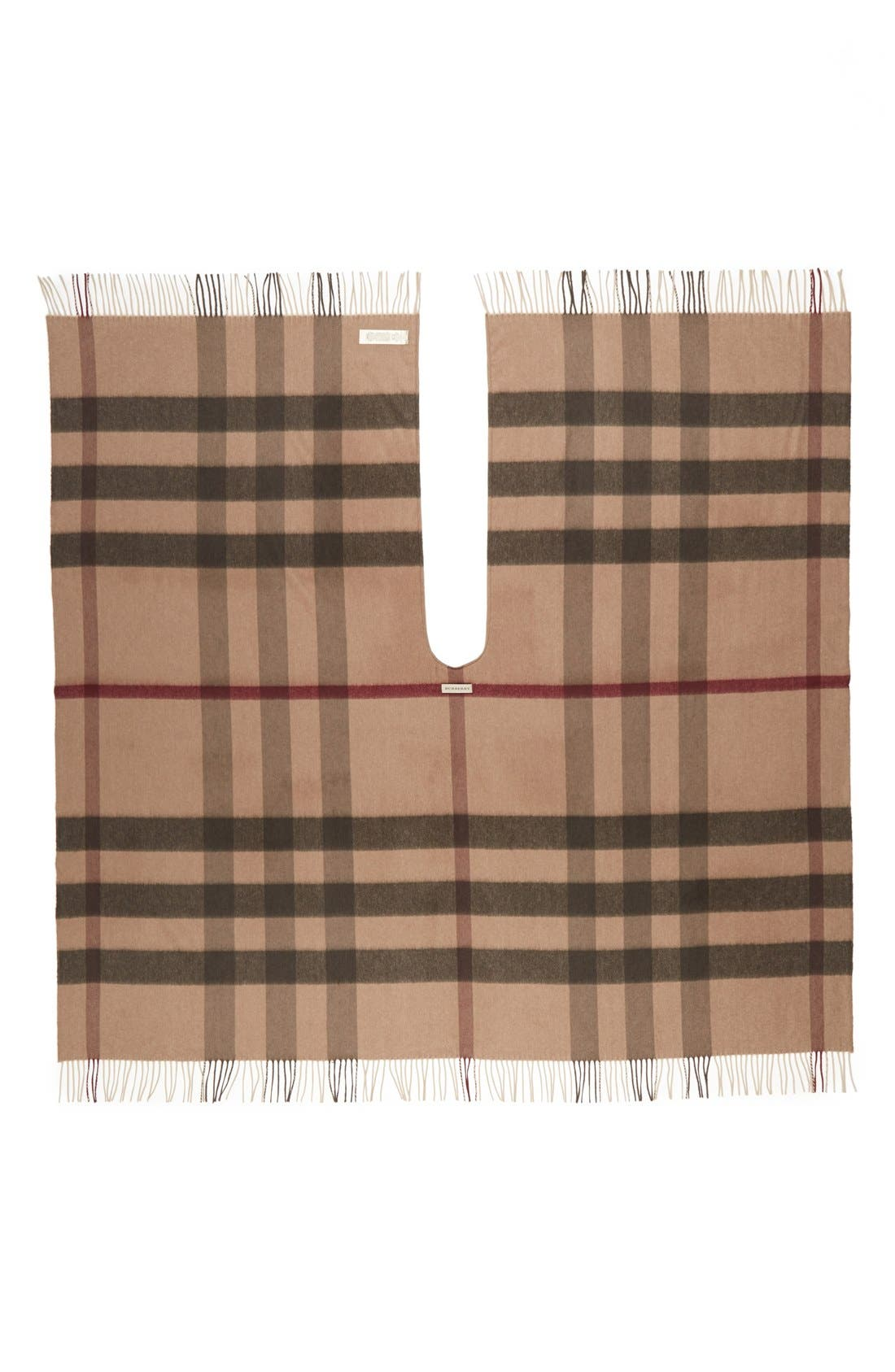 Alternate Image 2  - Burberry Check Print Wool & Cashmere Cape