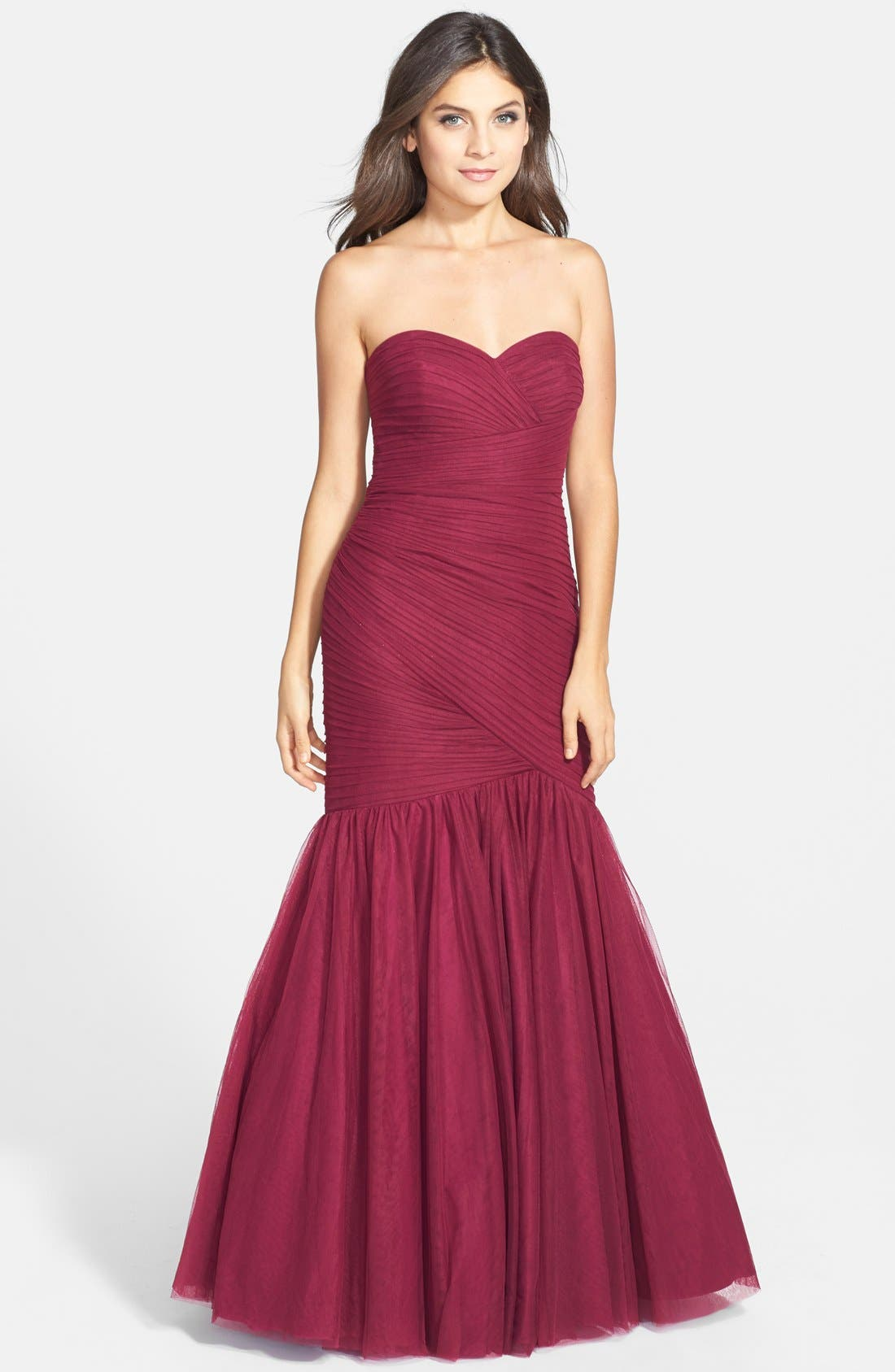 Alternate Image 1 Selected - JS Collections Ruched Sweetheart Mermaid Gown