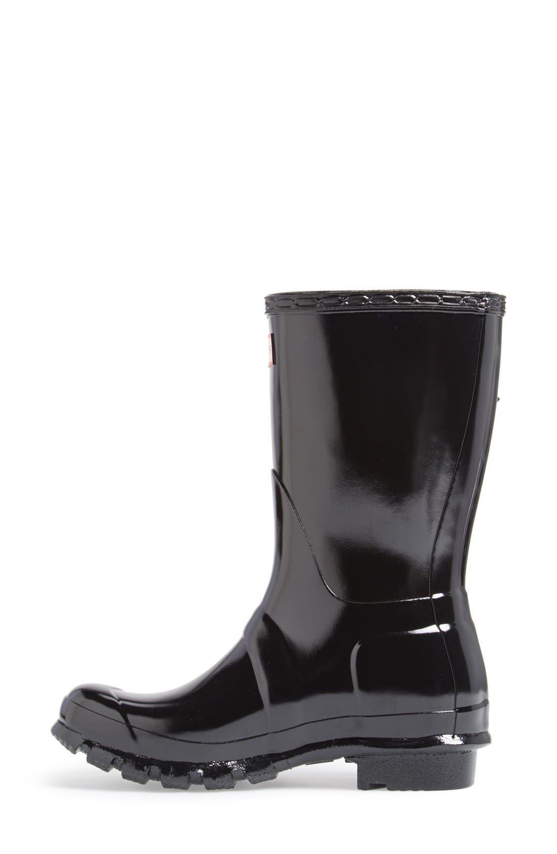 Alternate Image 5  - Hunter 'Original Short' Gloss Rain Boot (Women)