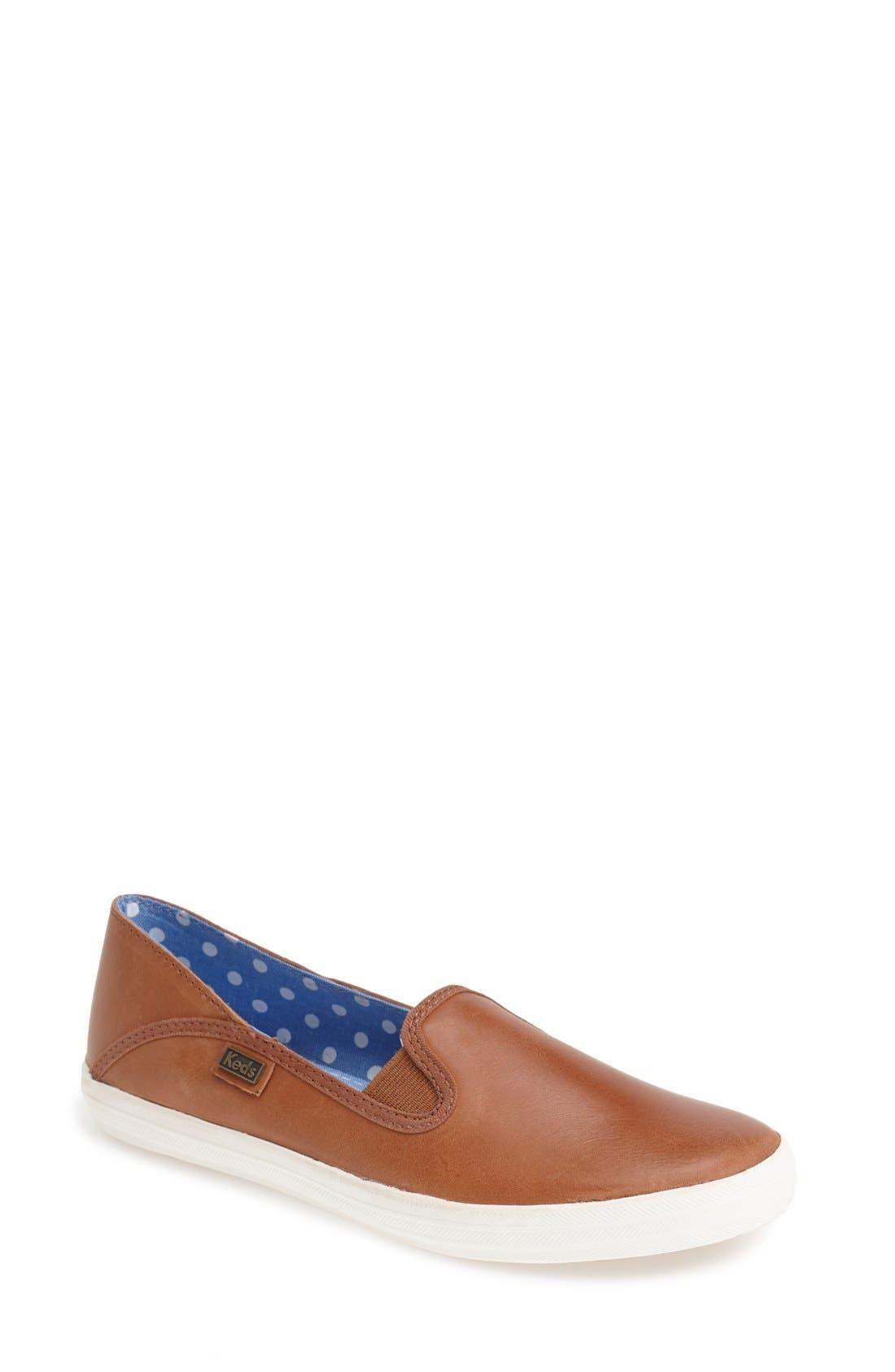 Keds® 'Crashback' Leather Slip-On (Women)