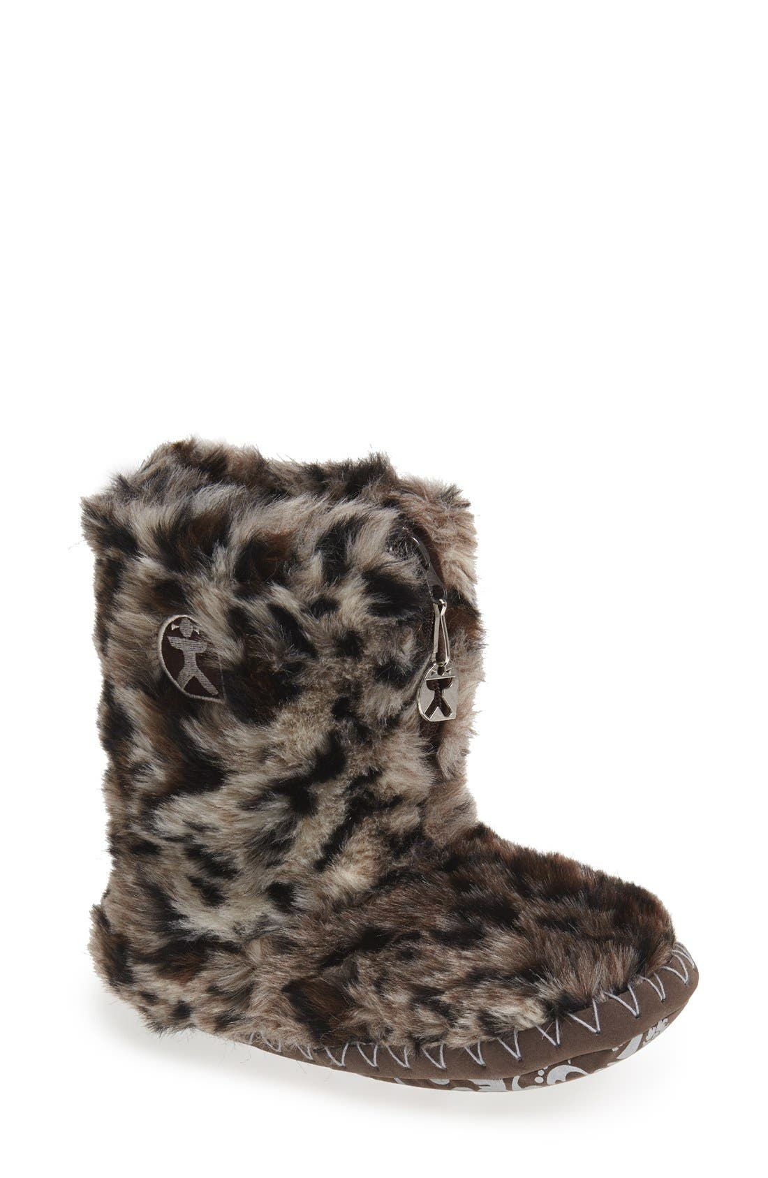 Alternate Image 1 Selected - Bedroom Athletics 'Cole' Faux Fur Slipper Boot (Women)