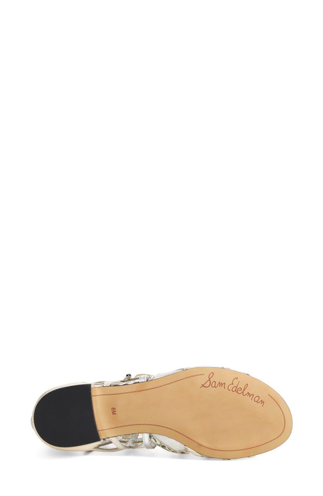 'Denver' Sandal,                             Alternate thumbnail 4, color,                             Modern Ivory/ Soft Silver