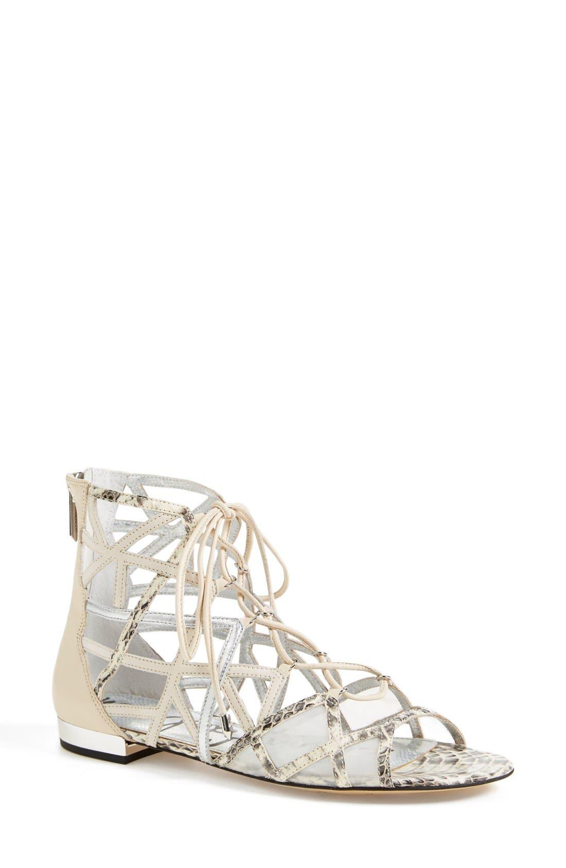 'Denver' Sandal,                         Main,                         color, Modern Ivory/ Soft Silver