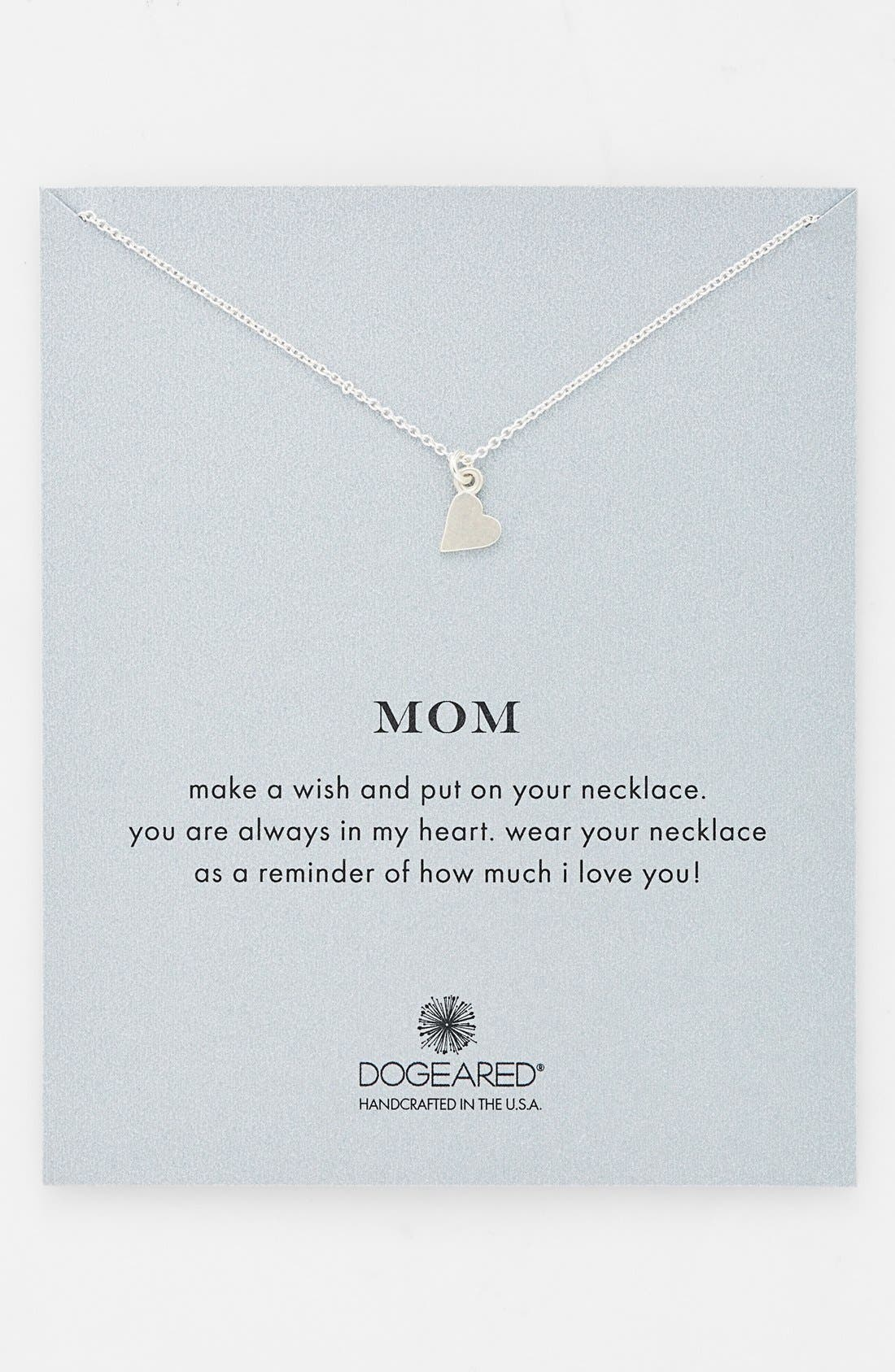 Alternate Image 1 Selected - Dogeared 'Mom' Pendant Necklace