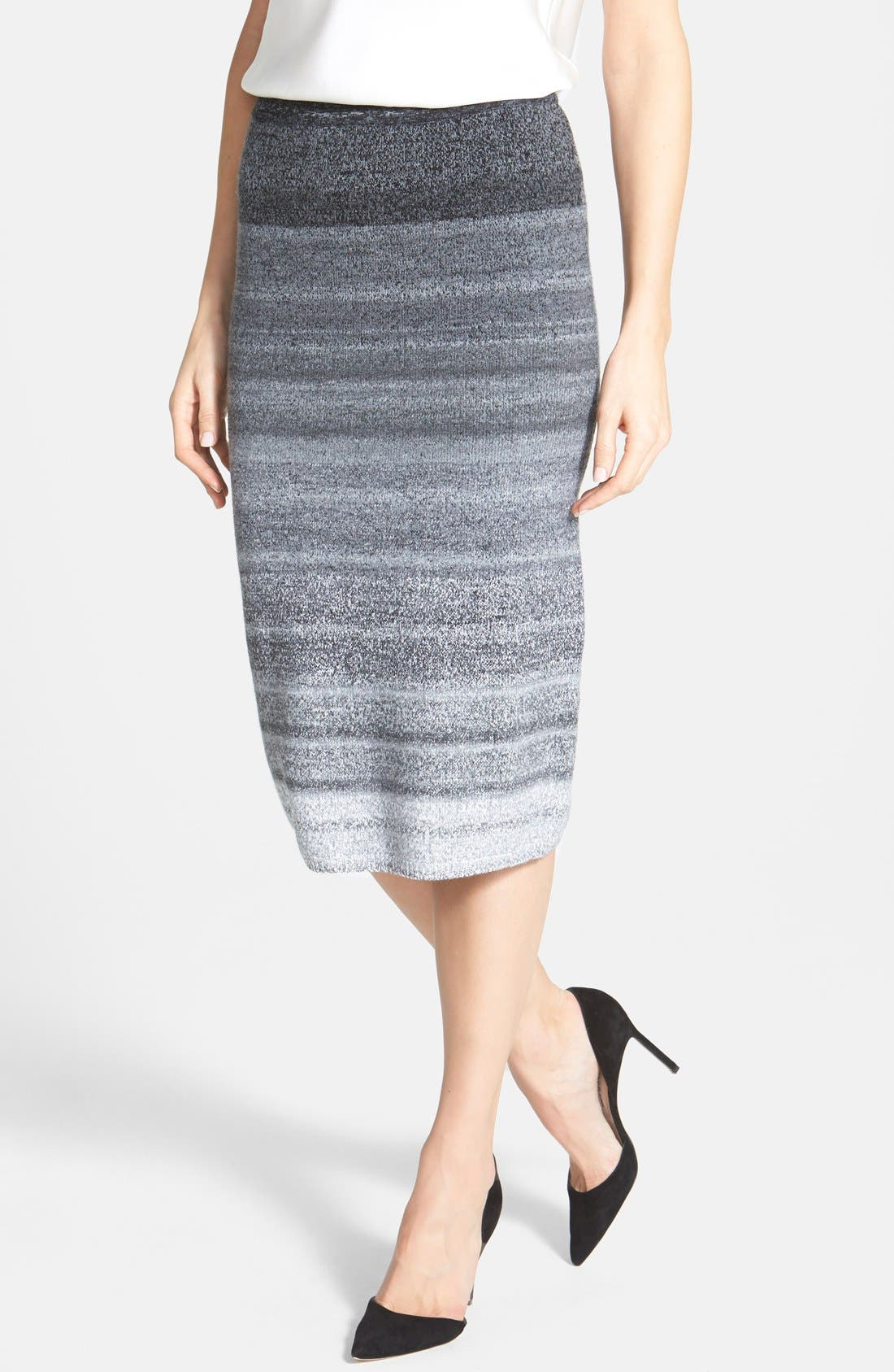 Alternate Image 1 Selected - Classiques Entier® Ombré Sweater Knit Skirt
