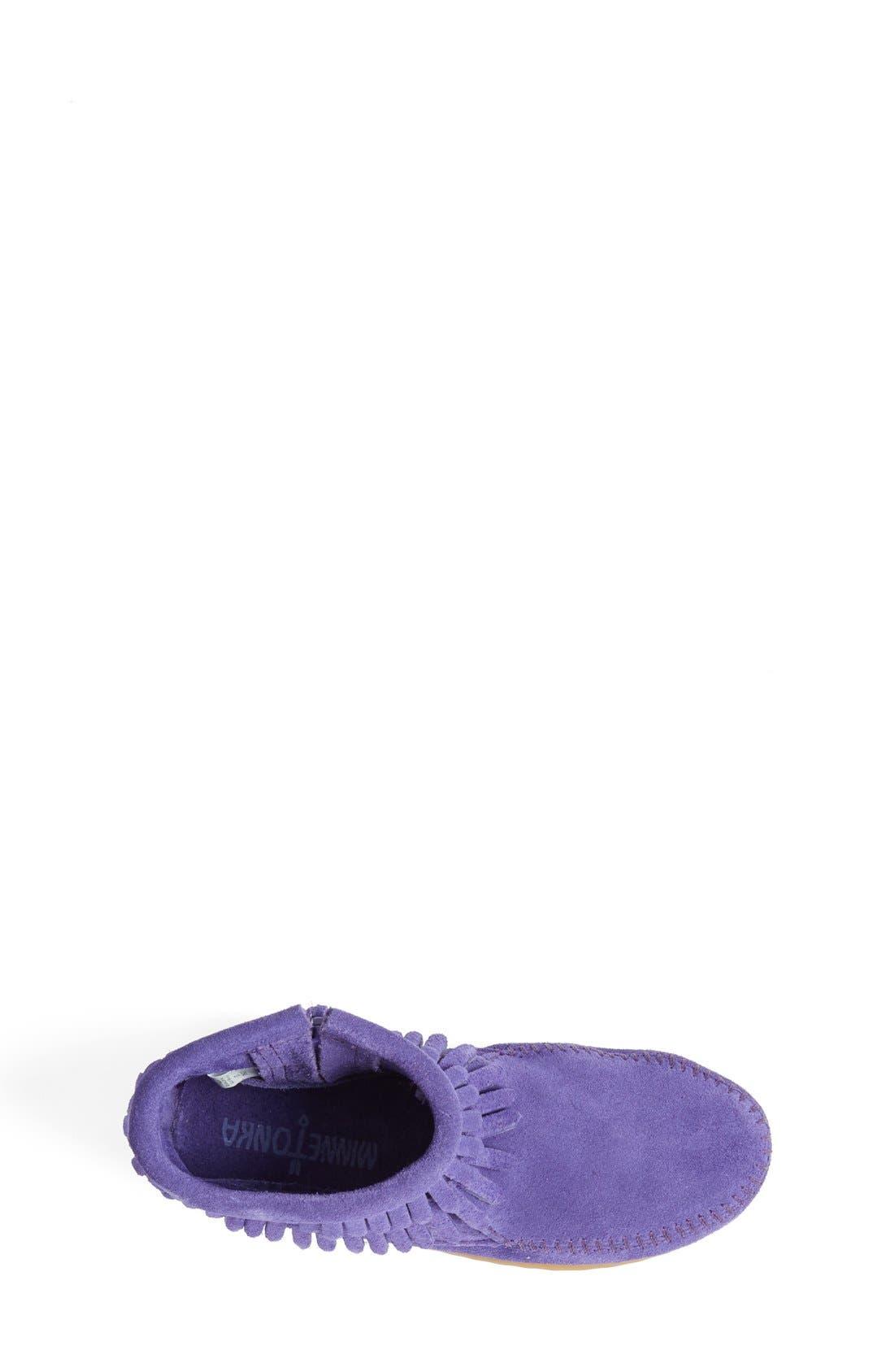 Alternate Image 3  - Minnetonka 'Double Fringe' Boot (Walker, Toddler, Little Kid & Big Kid)