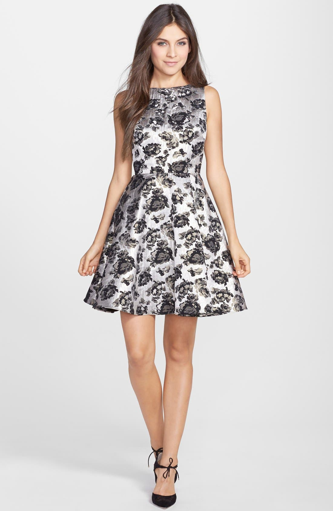Alternate Image 3  - Hailey by Adrianna Papell Brocade Fit & Flare Dress