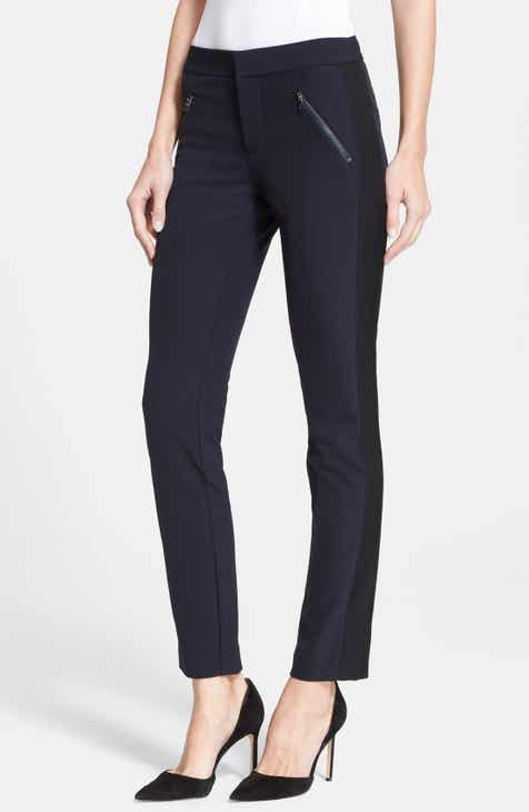 Vince Camuto Ankle Vent Crop Cotton Blend Pants (Plus Size) by VINCE CAMUTO
