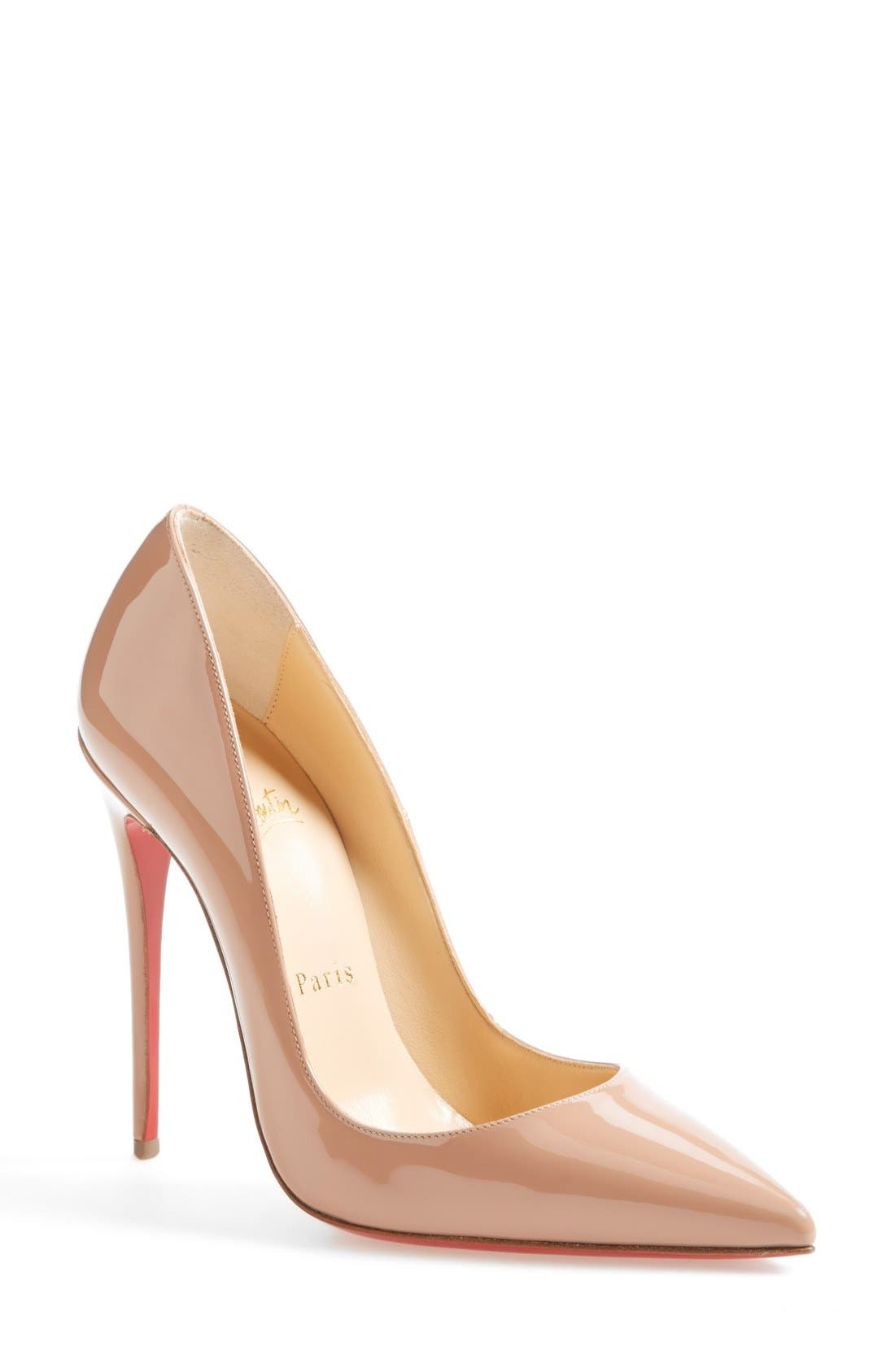 'So Kate' Pointy Toe Pump,                             Main thumbnail 1, color,                             Nude