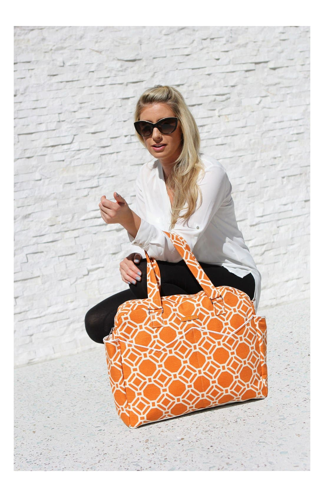 Alternate Image 3  - Foxy Vida 'Lattice' Print Satchel