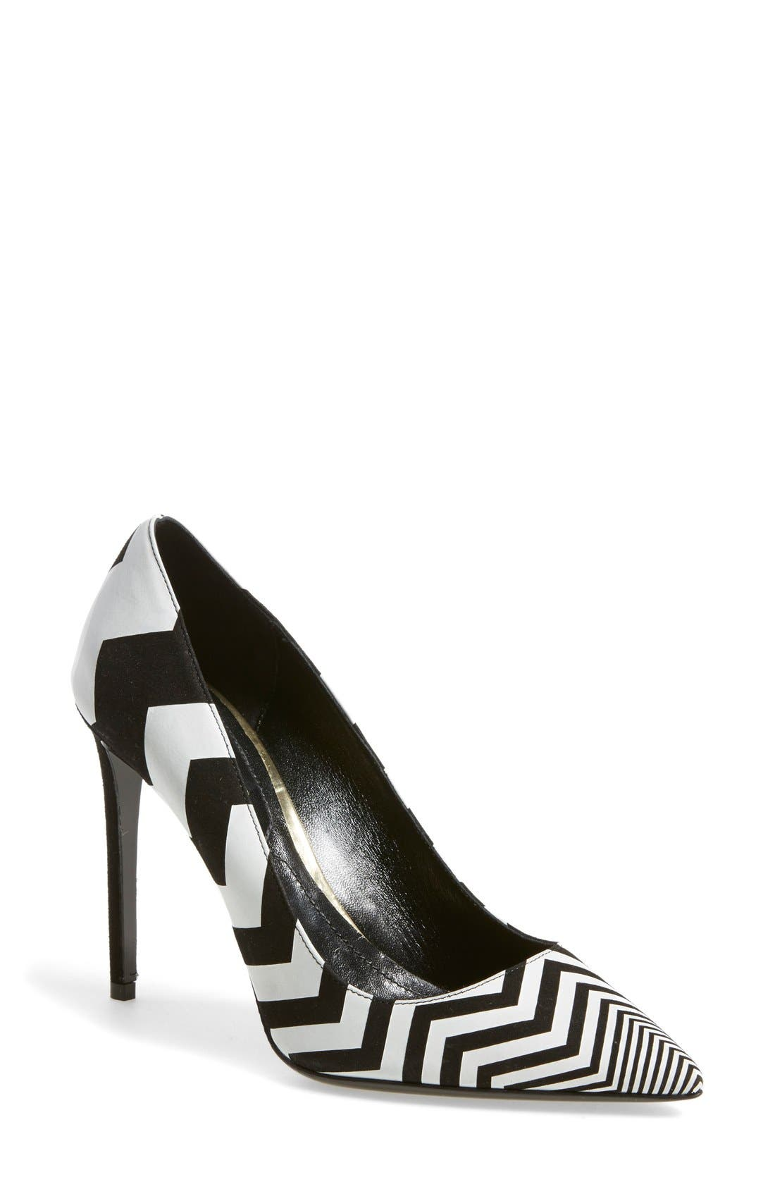 Main Image - Nicholas Kirkwood Chevron Pointy Toe Pump (Women)