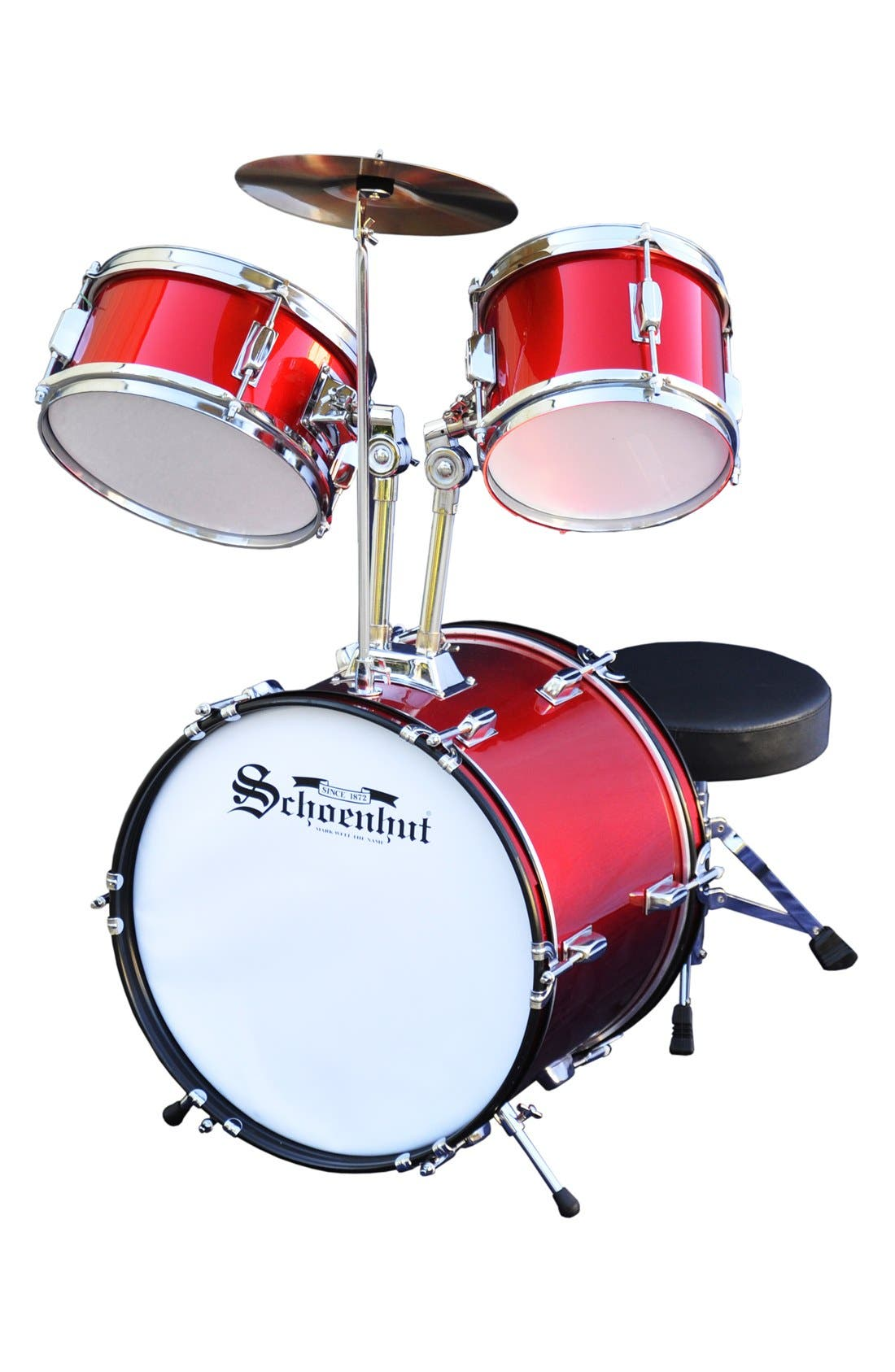 5-Piece Drum Set,                         Main,                         color, Red