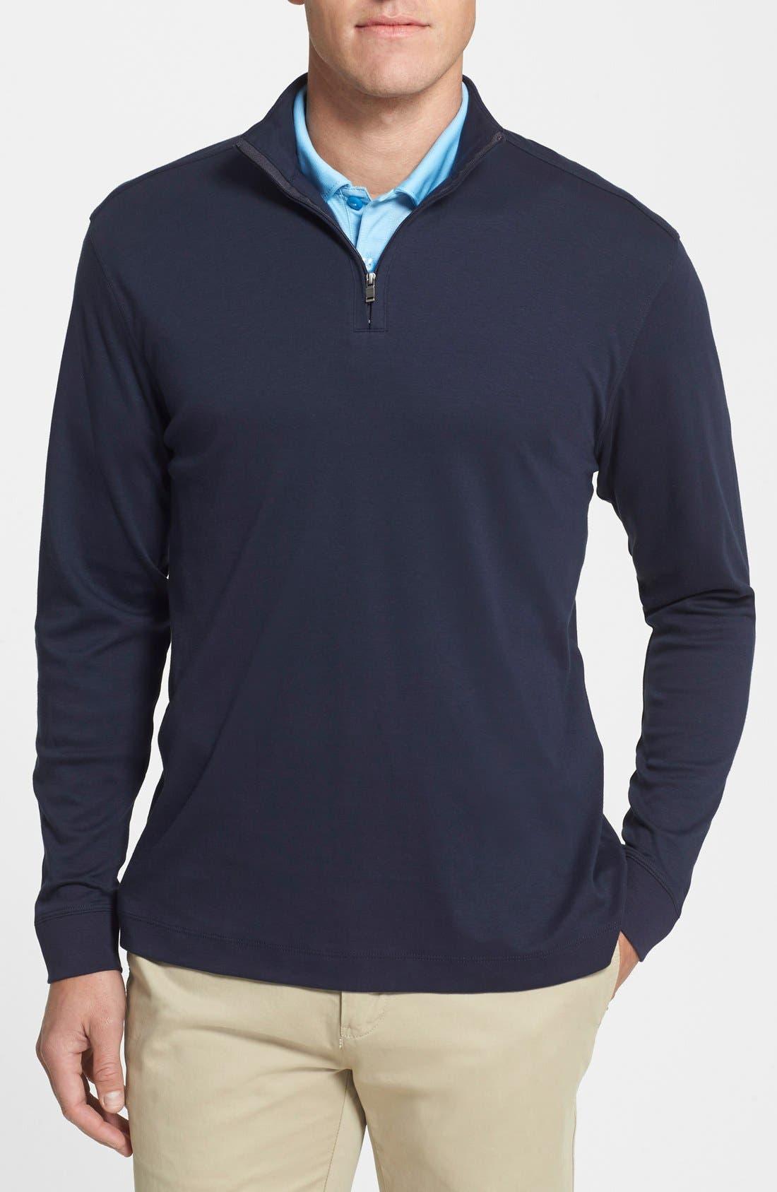 Main Image - Cutter & Buck Belfair Quarter Zip Pullover