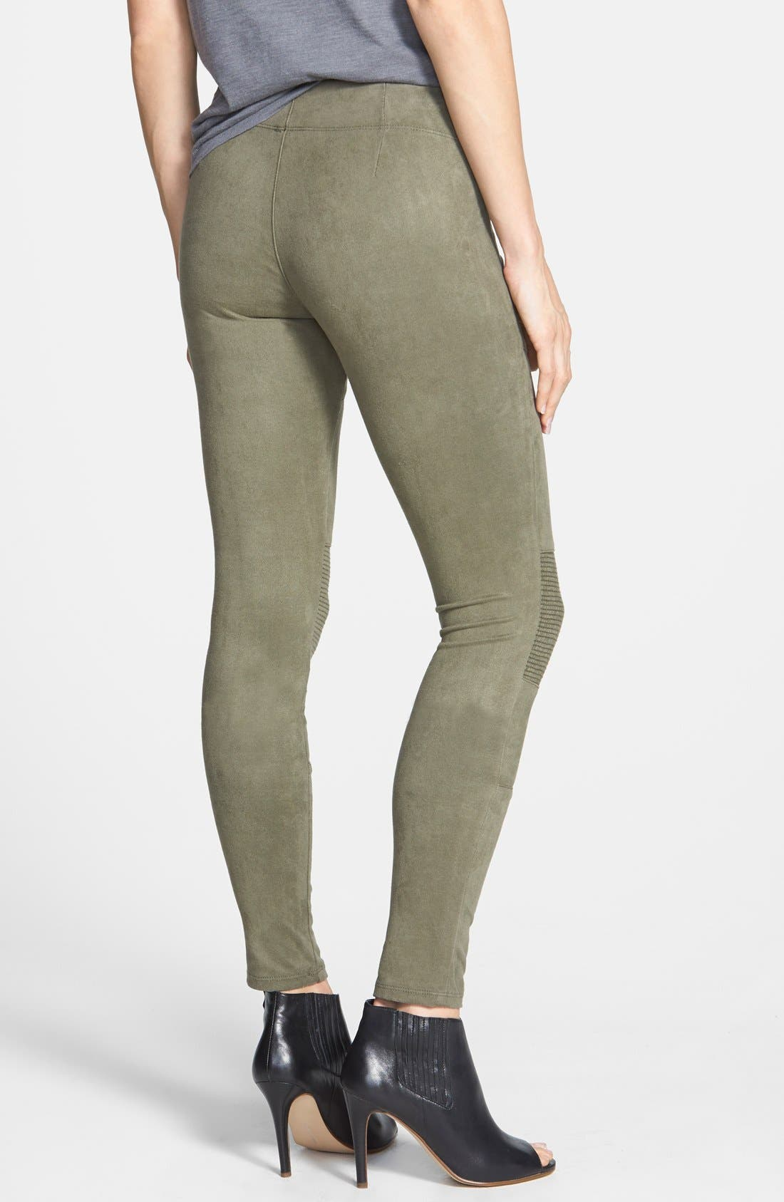Alternate Image 2  - Yoga Jeans by Second Denim Faux Suede Moto Leggings