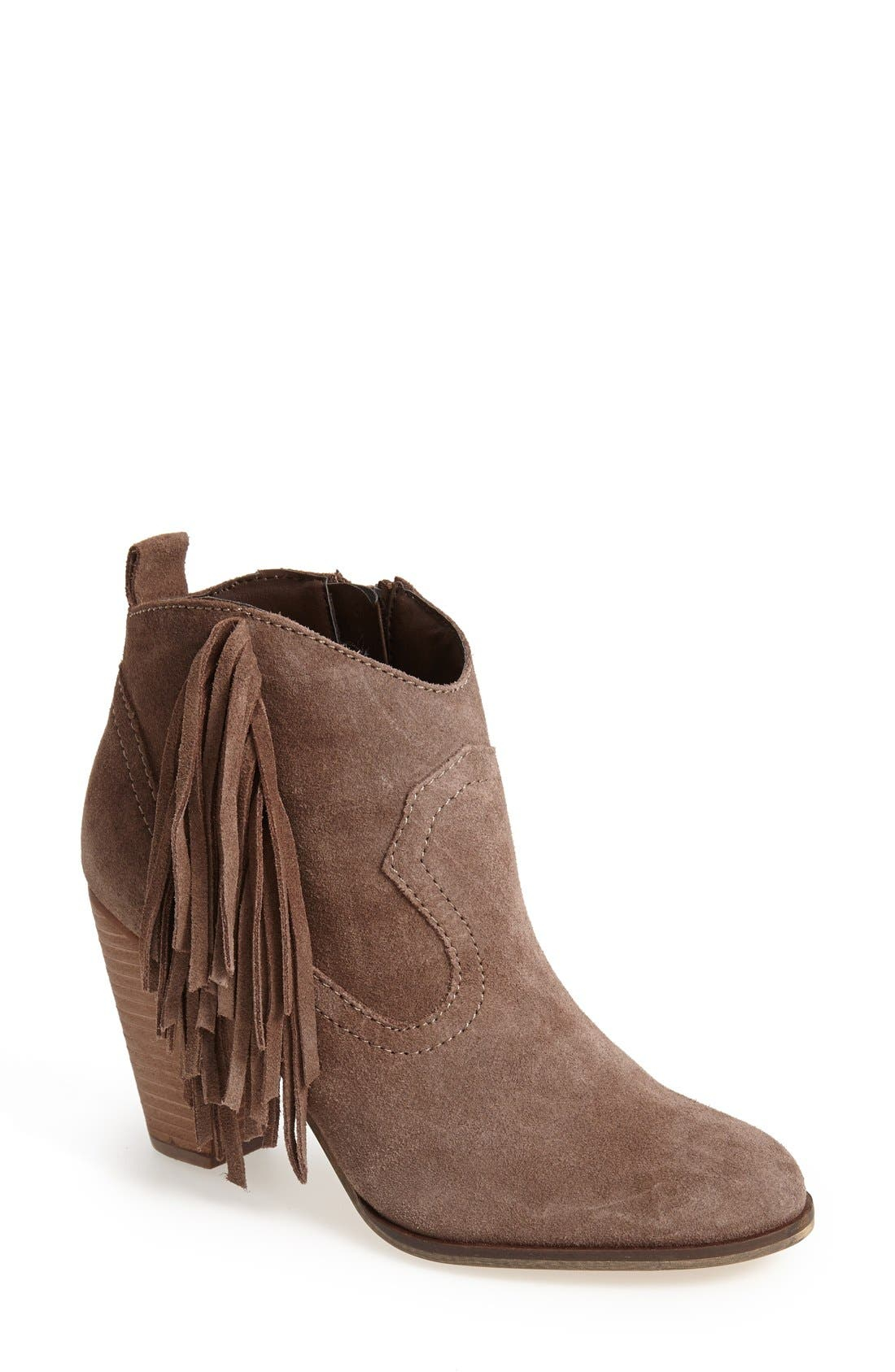 Alternate Image 1 Selected - Steve Madden 'Ponncho' Suede Bootie (Women)