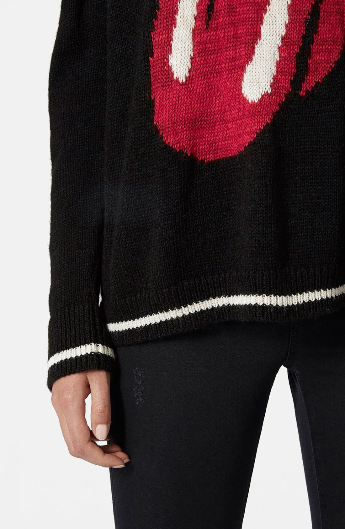 Alternate Image 4  - Topshop 'Rolling Stone' Sweater