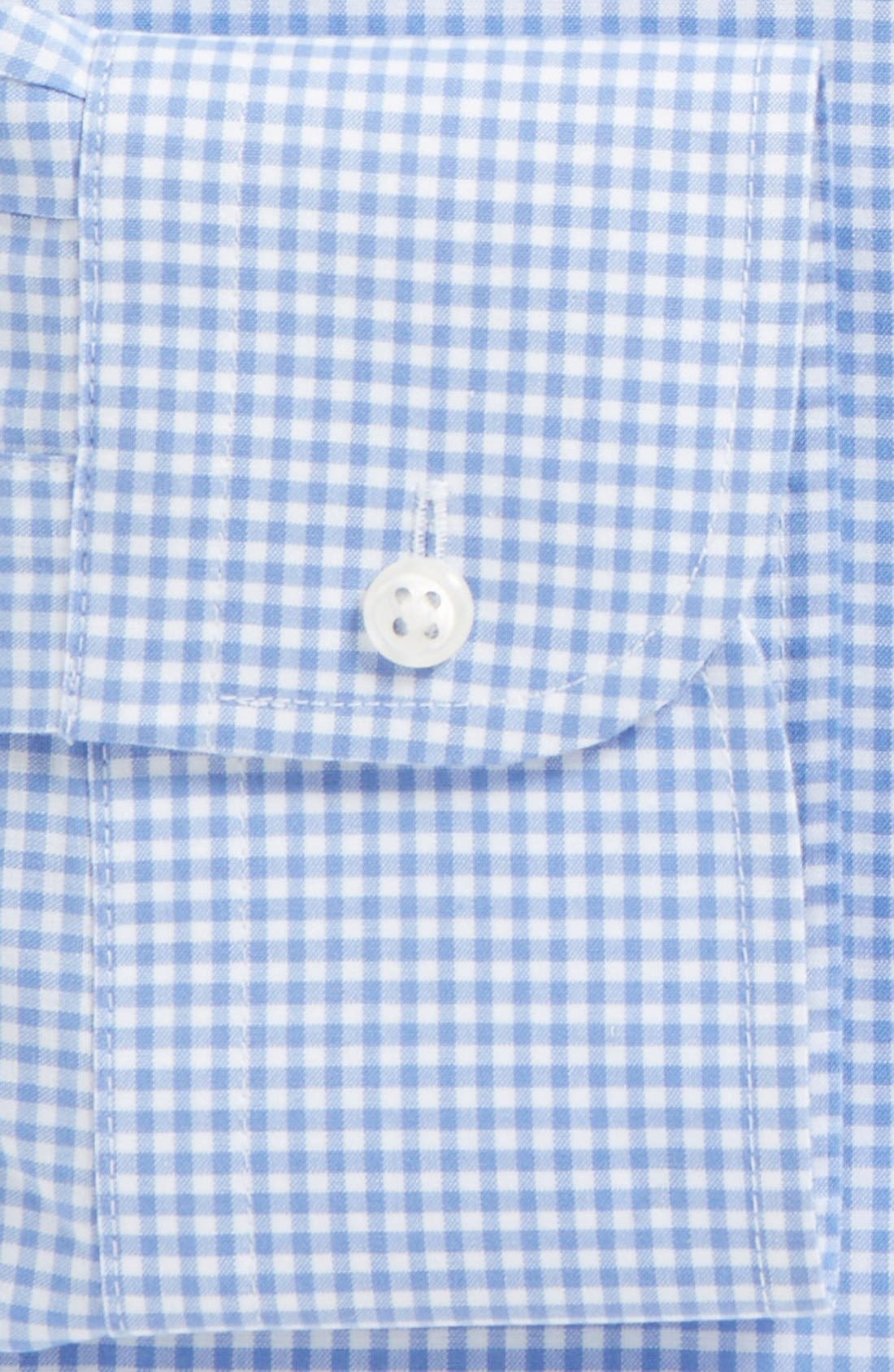 Alternate Image 4  - Nordstrom Men's Shop Smartcare™ Traditional Fit Gingham Dress Shirt