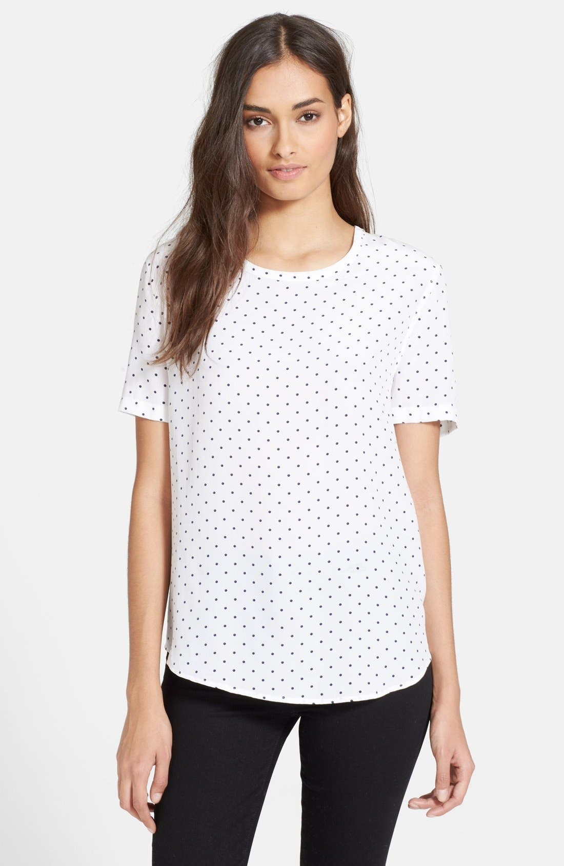 Alternate Image 1 Selected - Equipment 'Riley - Uniform Dot' Silk Tee