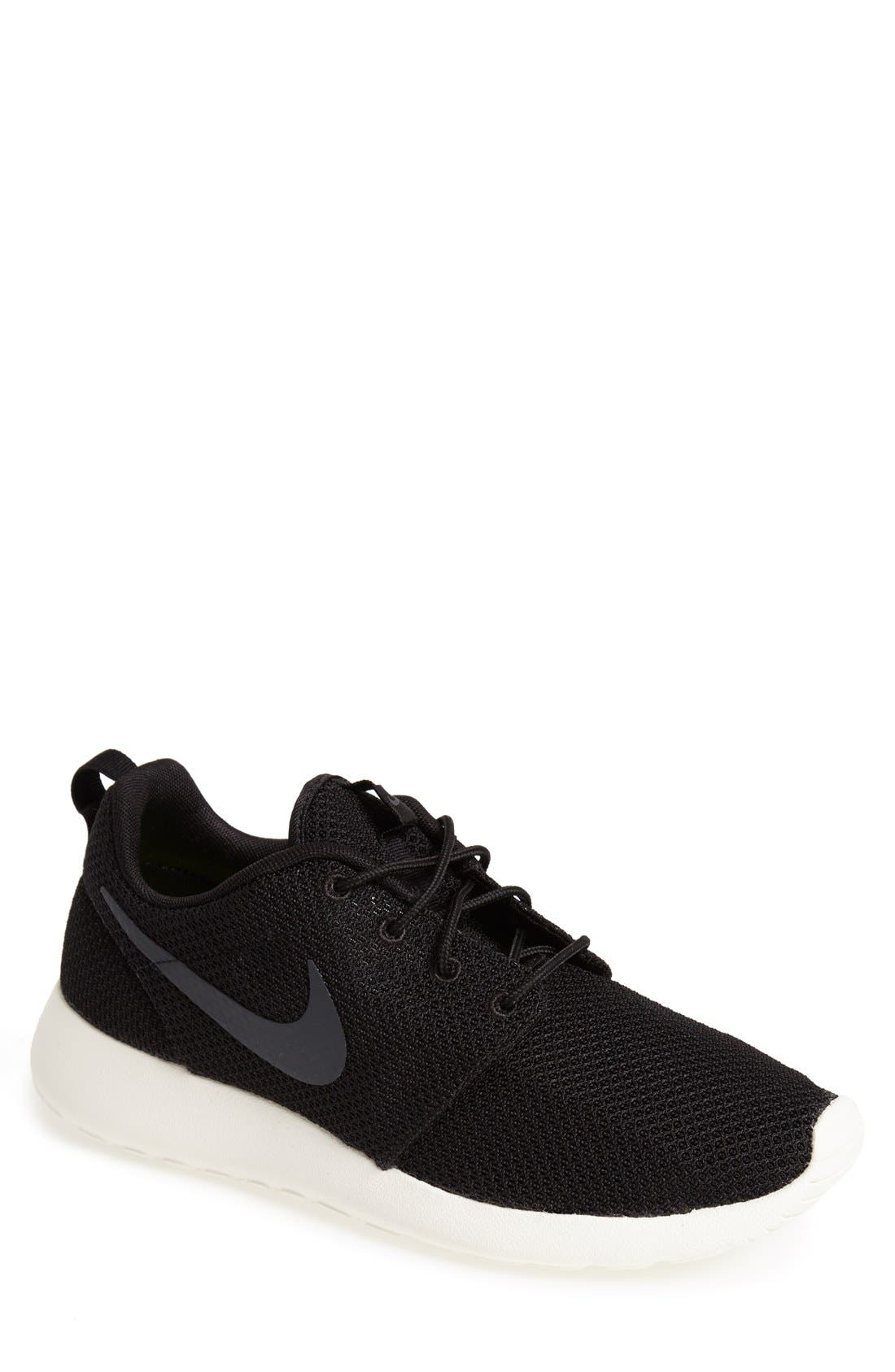 'Roshe Run' Sneaker,                         Main,                         color, Black/ Anthracite/ Sail