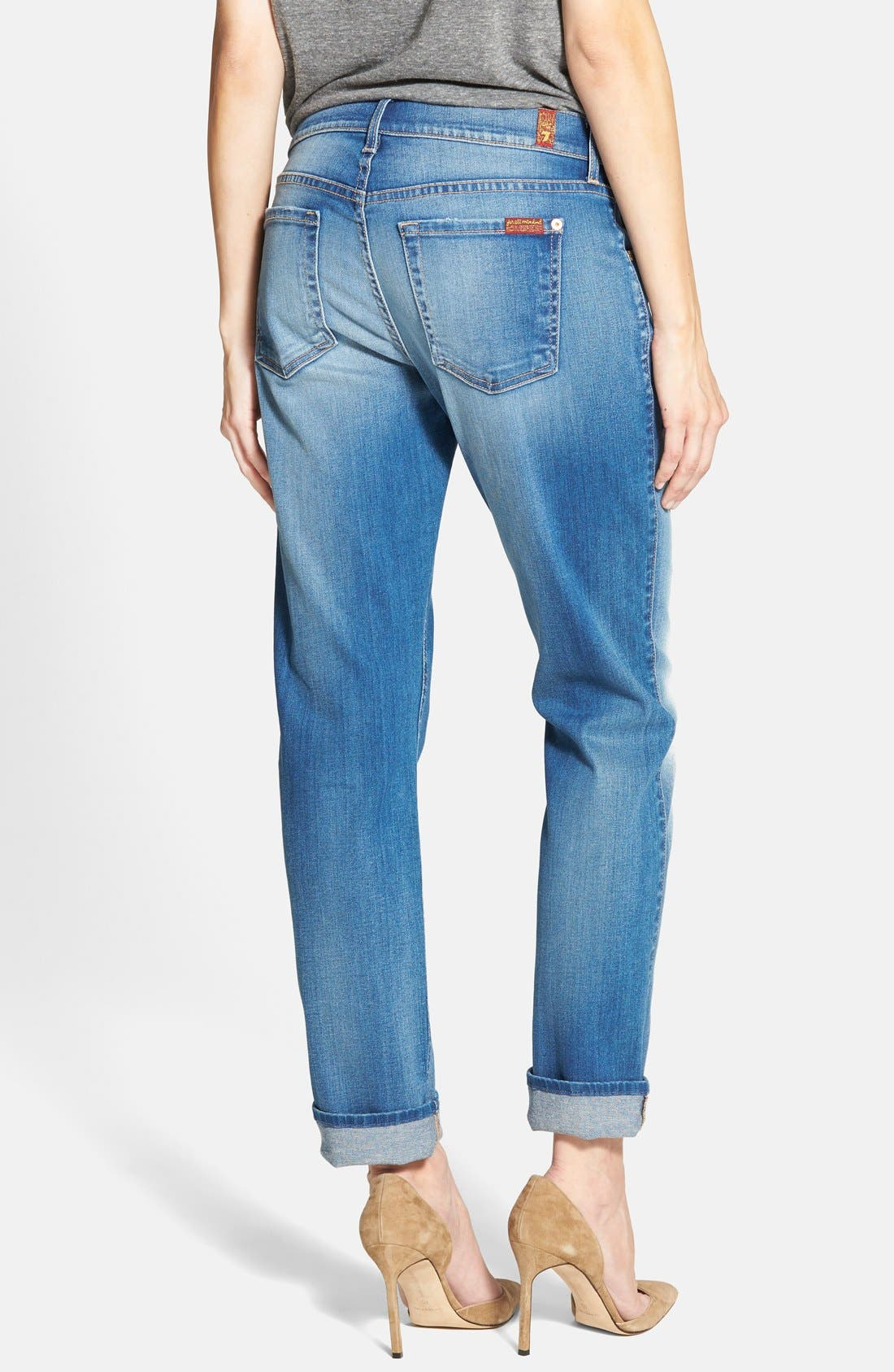 Alternate Image 2  - 7 For All Mankind® Relaxed Skinny Jeans (Bright Skies Blue)