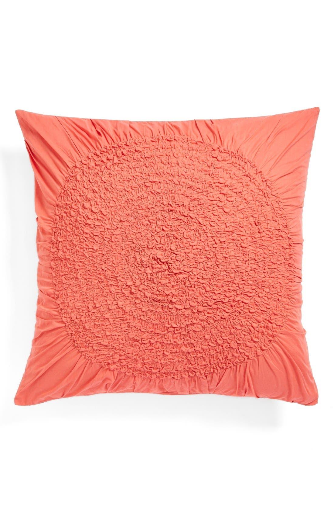 'Chloe' Euro Sham,                         Main,                         color, Coral Spice
