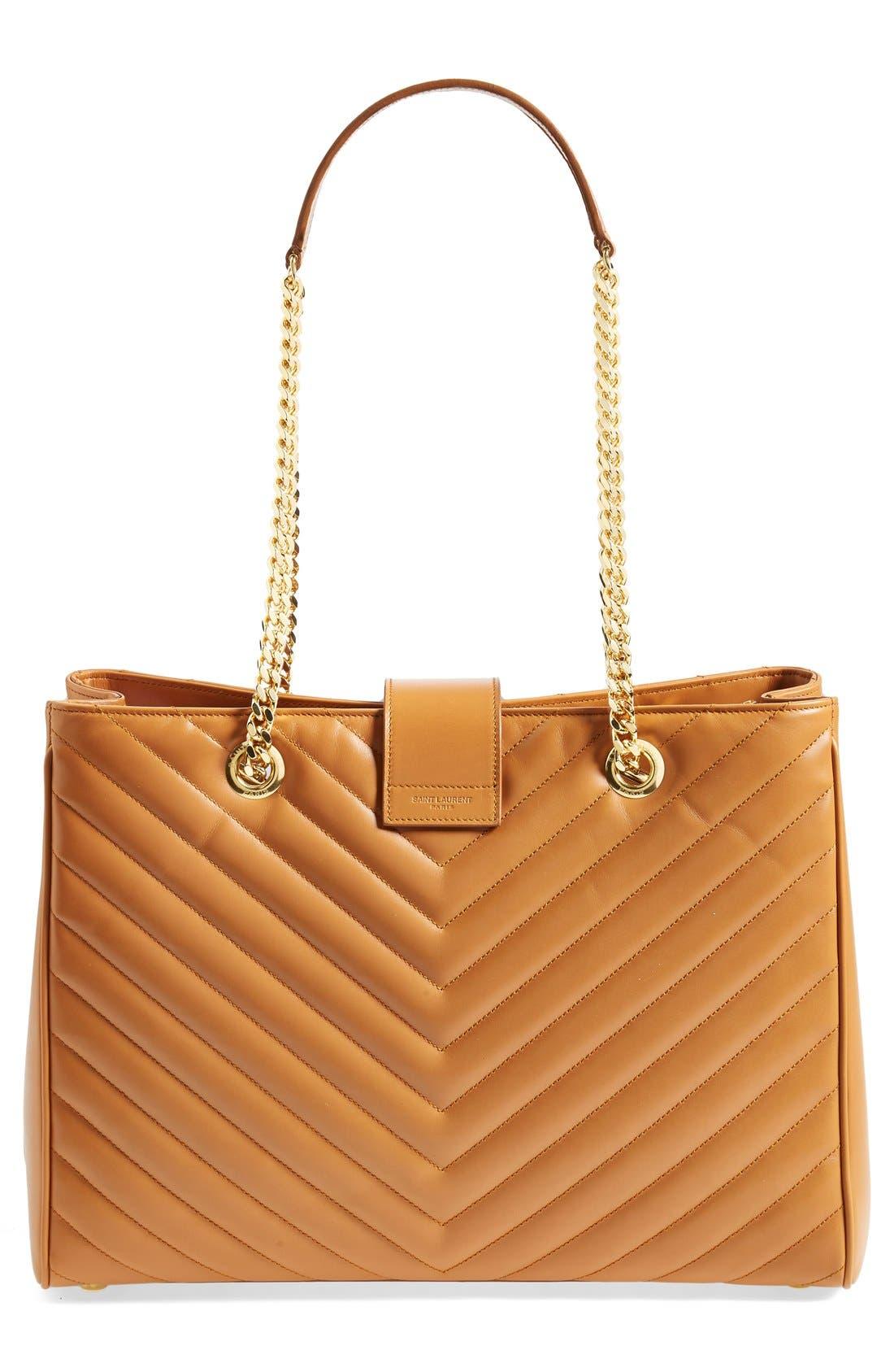 Alternate Image 6  - Saint Laurent 'Cassandre' Leather Shopper