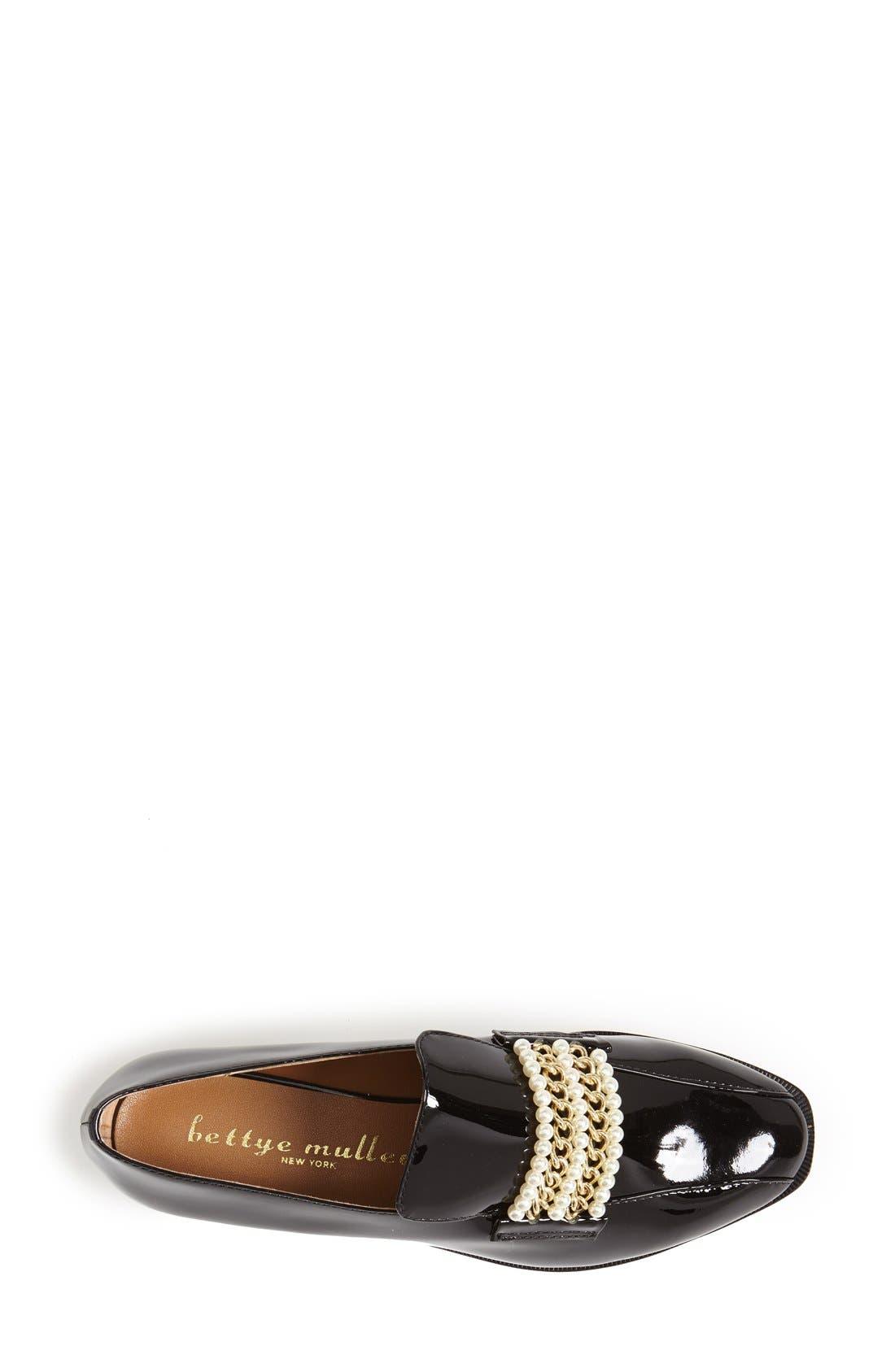 Alternate Image 3  - Bettye Muller 'Pearl' Patent Leather Loafer (Women)