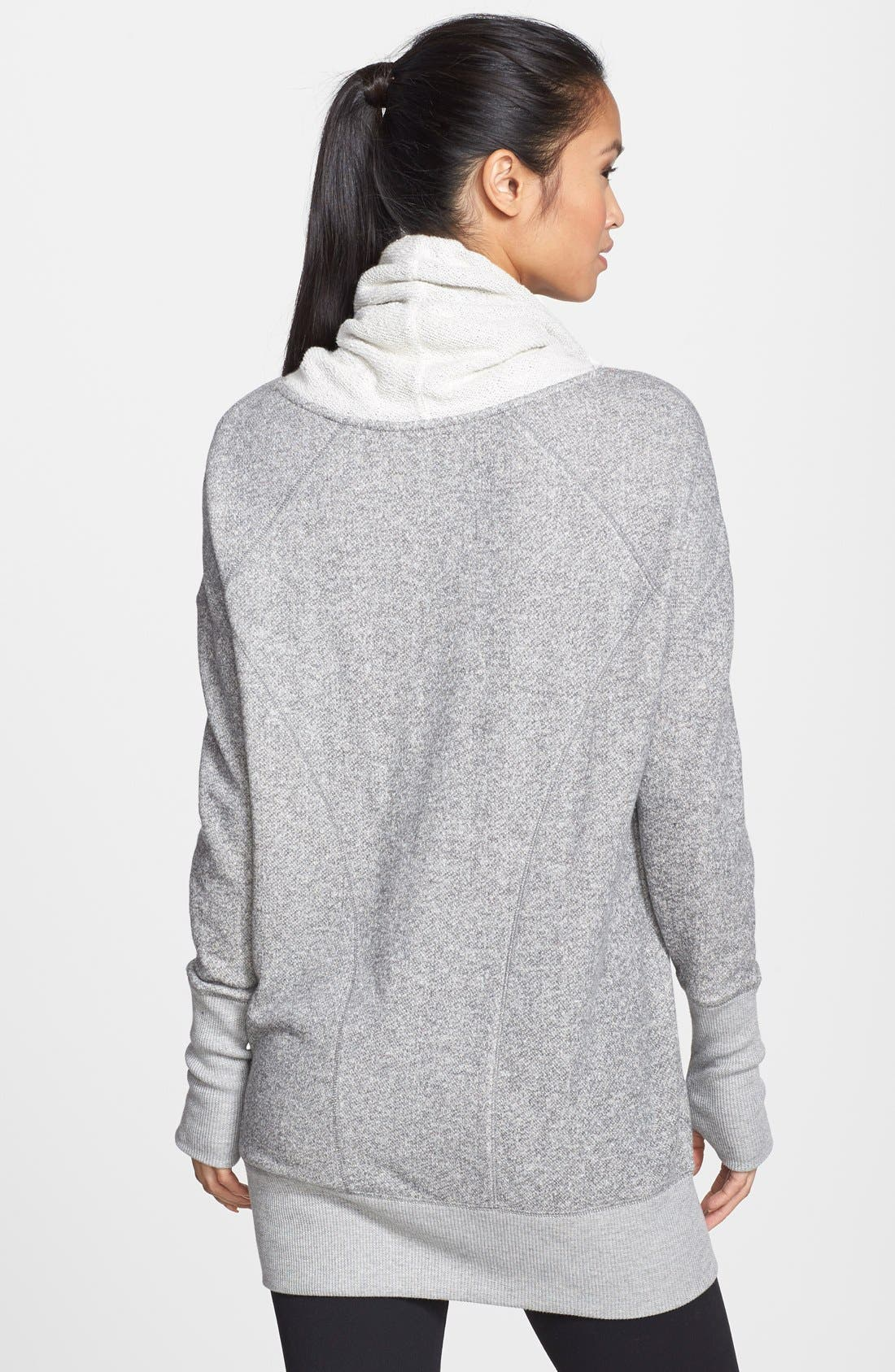 'Serenity' French Terry Sweatshirt,                             Alternate thumbnail 2, color,                             Grey Monument Heather