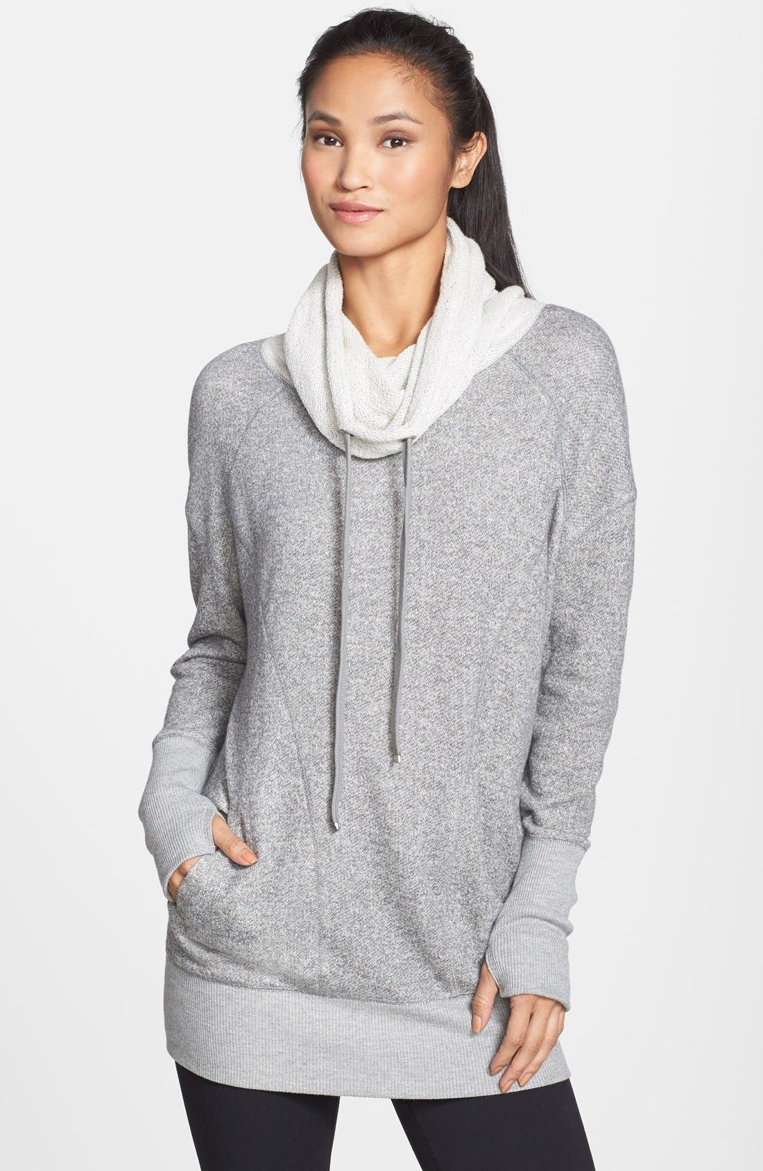 'Serenity' French Terry Sweatshirt,                             Main thumbnail 1, color,                             Grey Monument Heather