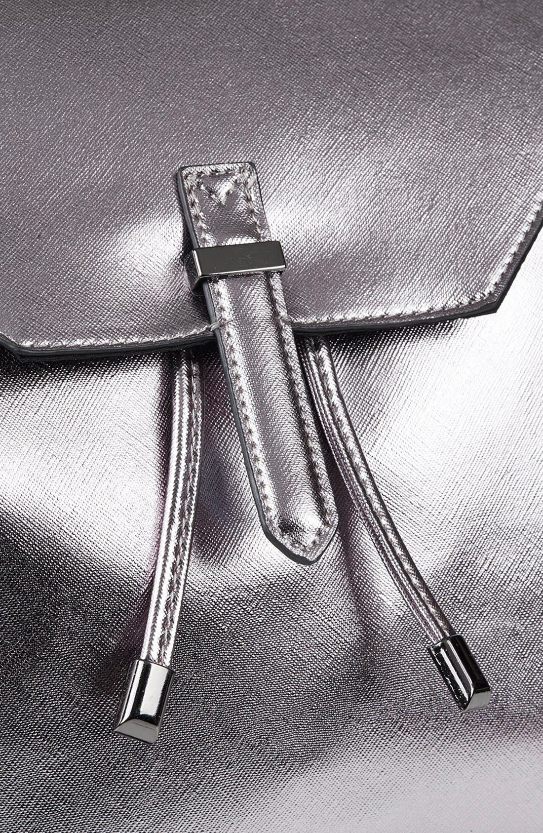 Alternate Image 3  - Topshop Metallic Faux Leather Backpack