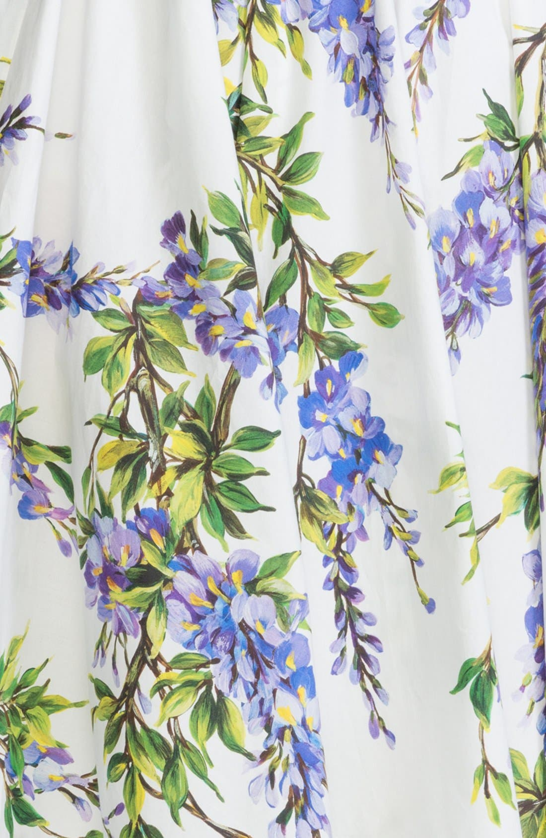 Alternate Image 3  - Dolce&Gabbana Wisteria Print Cotton Skirt